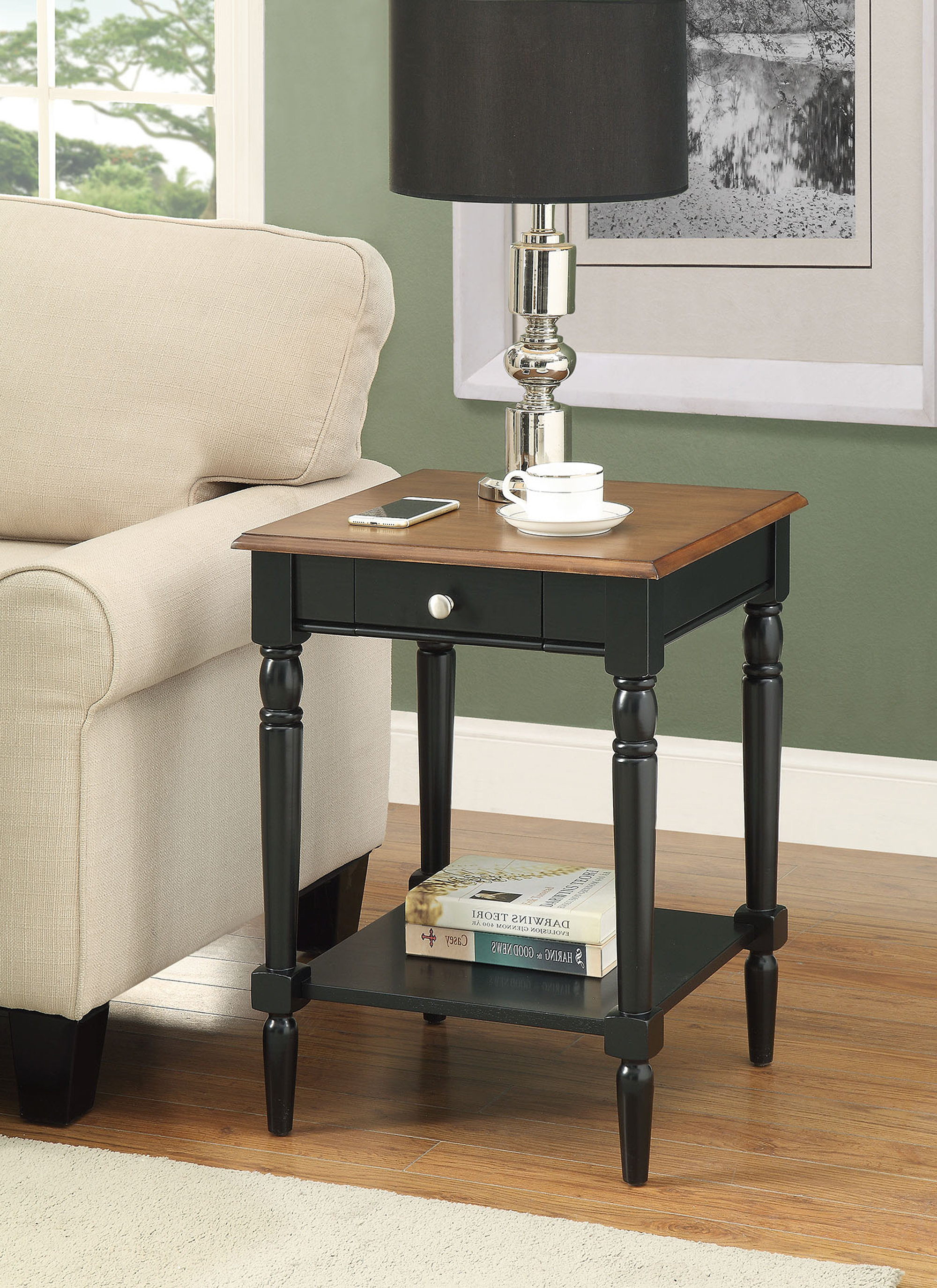 Ariella End Table With Storage Throughout Latest Arella Ii Modern Distressed Grey White Coffee Tables (View 17 of 20)