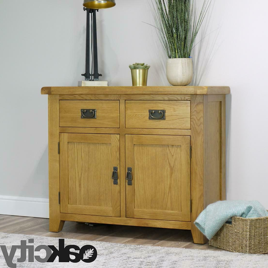 Arklow Oak Small Sideboard / Fully Assembled 2 Door 2 Drawer Dining Room Storage In Norton Sideboards (View 15 of 20)