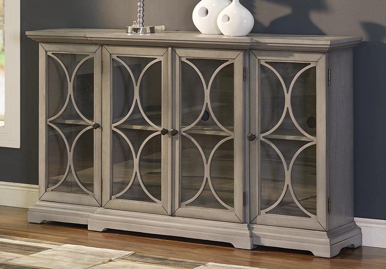 Aufregend Diondre 4 Door Accent Cabinet Wayfair White Ashley With Kattie 4 Door Cabinets (View 6 of 20)