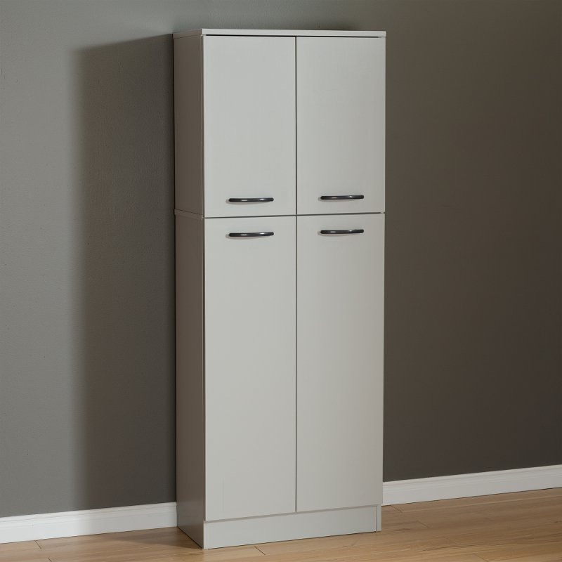 Axess Kitchen Pantry With Recent Soft Gray 4 Door Storage Pantry – Axess (View 17 of 20)