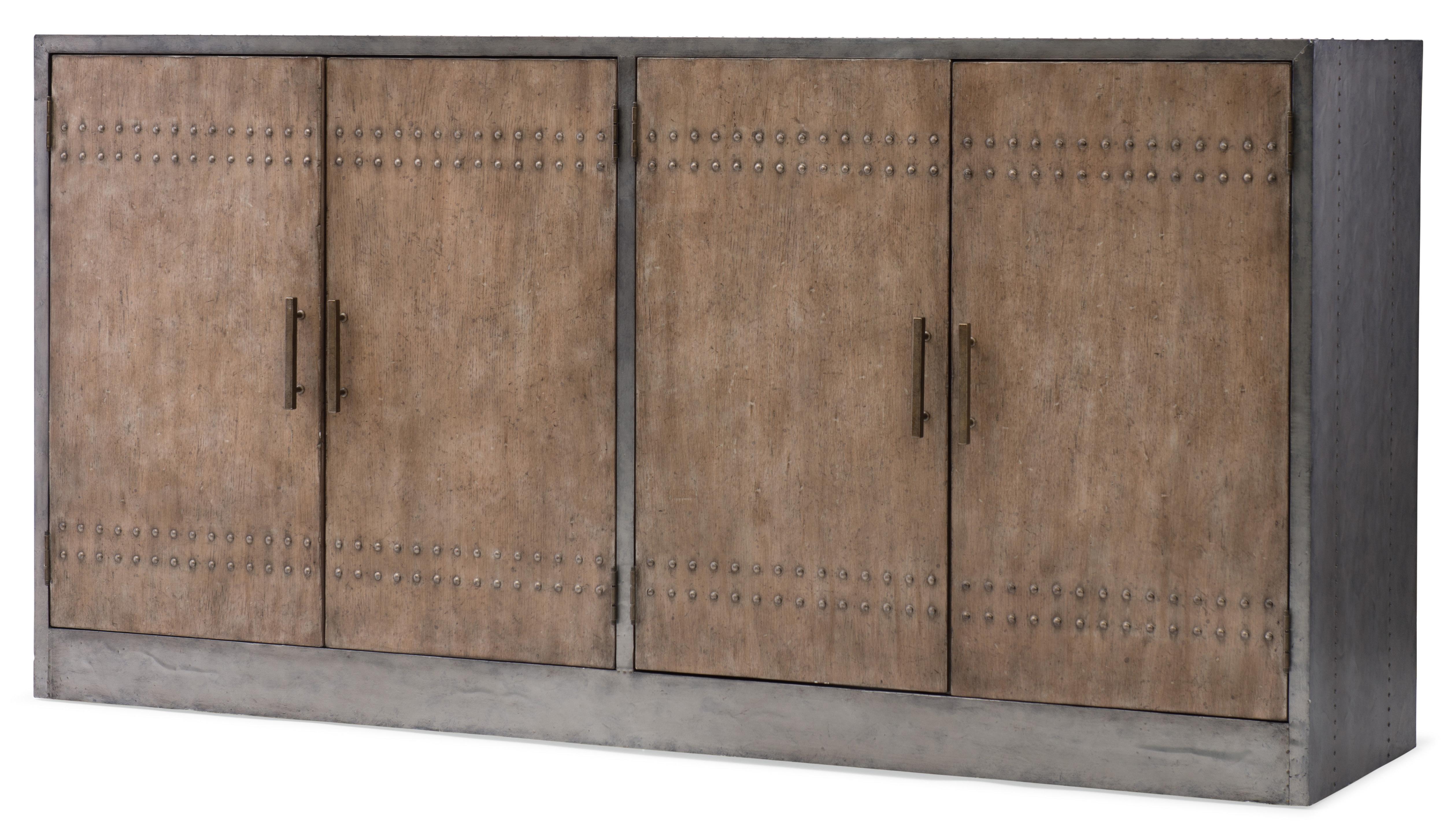 Barn Door Sideboard | Wayfair In Steinhatchee Reclaimed Pine 4 Door Sideboards (View 5 of 20)