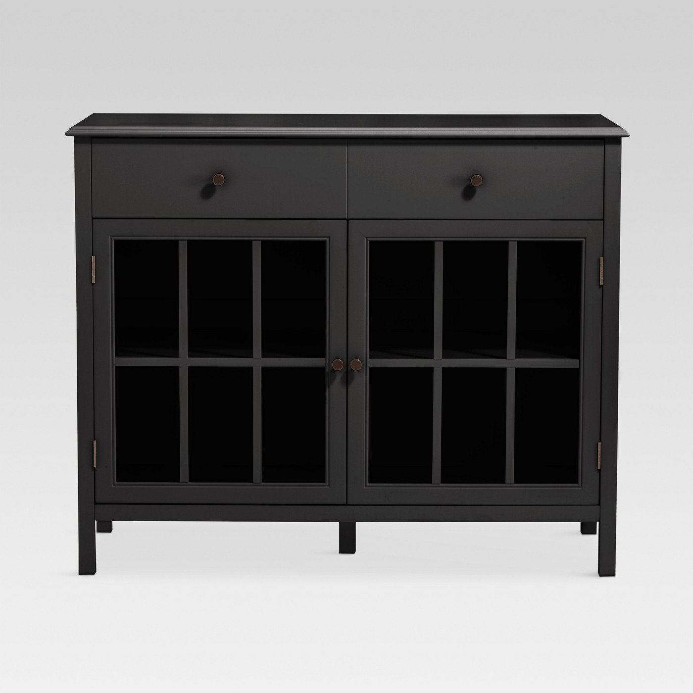 Barn Wood Rosendale Carved Accent Ashley Furniture Glass Throughout Kattie 4 Door Cabinets (View 16 of 20)