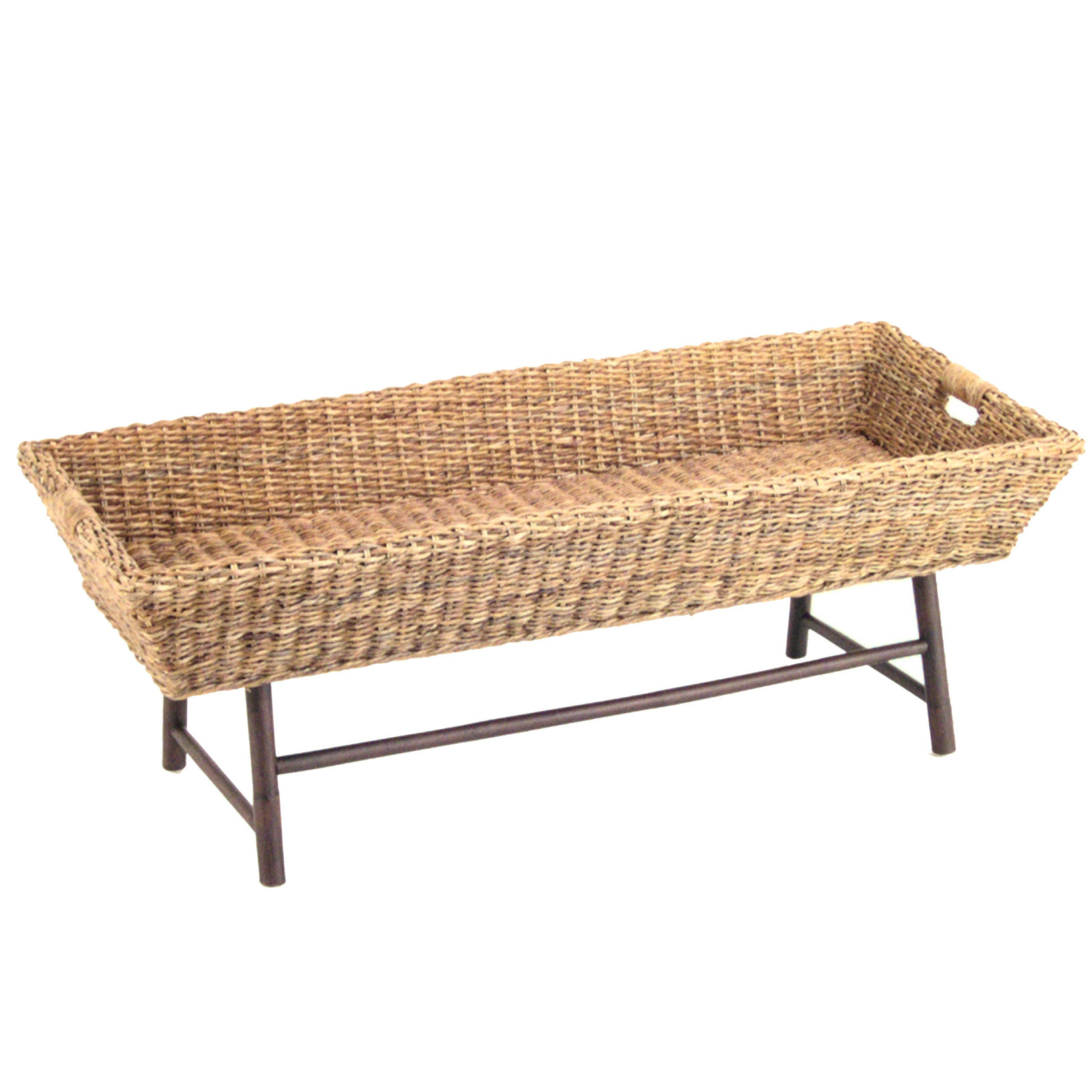 Basket Coffee Table Pertaining To Most Up To Date Rustic Coffee Tables With Wicker Storage Baskets (View 18 of 20)