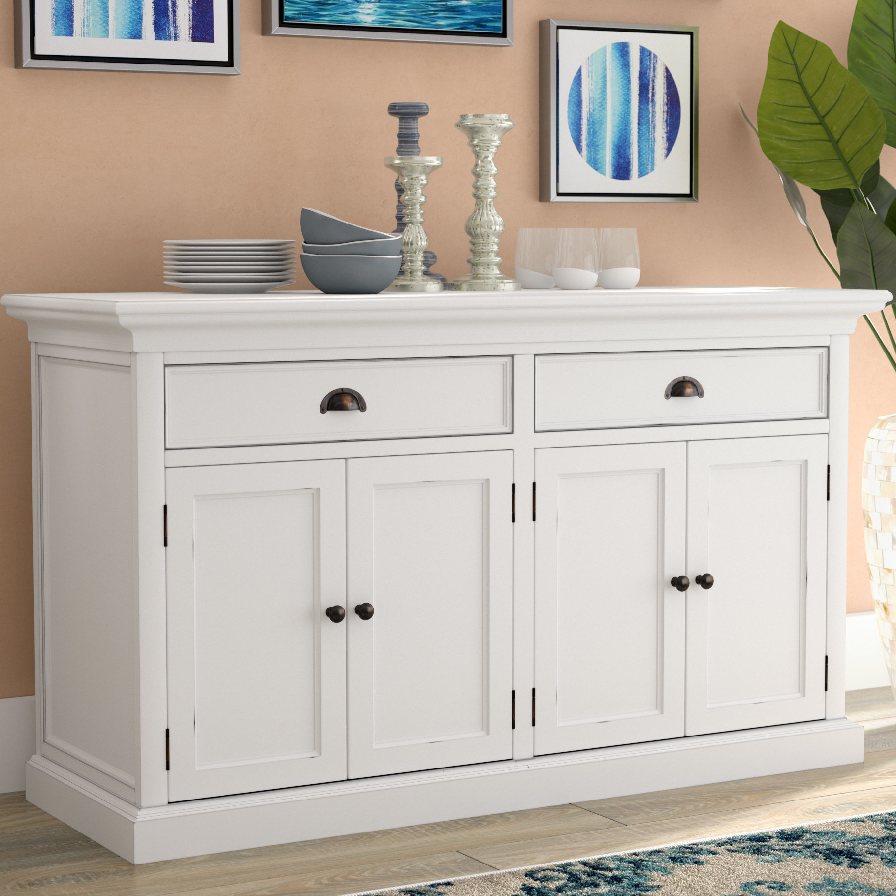Beachcrest Home Amityville Wood Sideboard & Reviews | Wayfair With Regard To Amityville Sideboards (View 2 of 20)