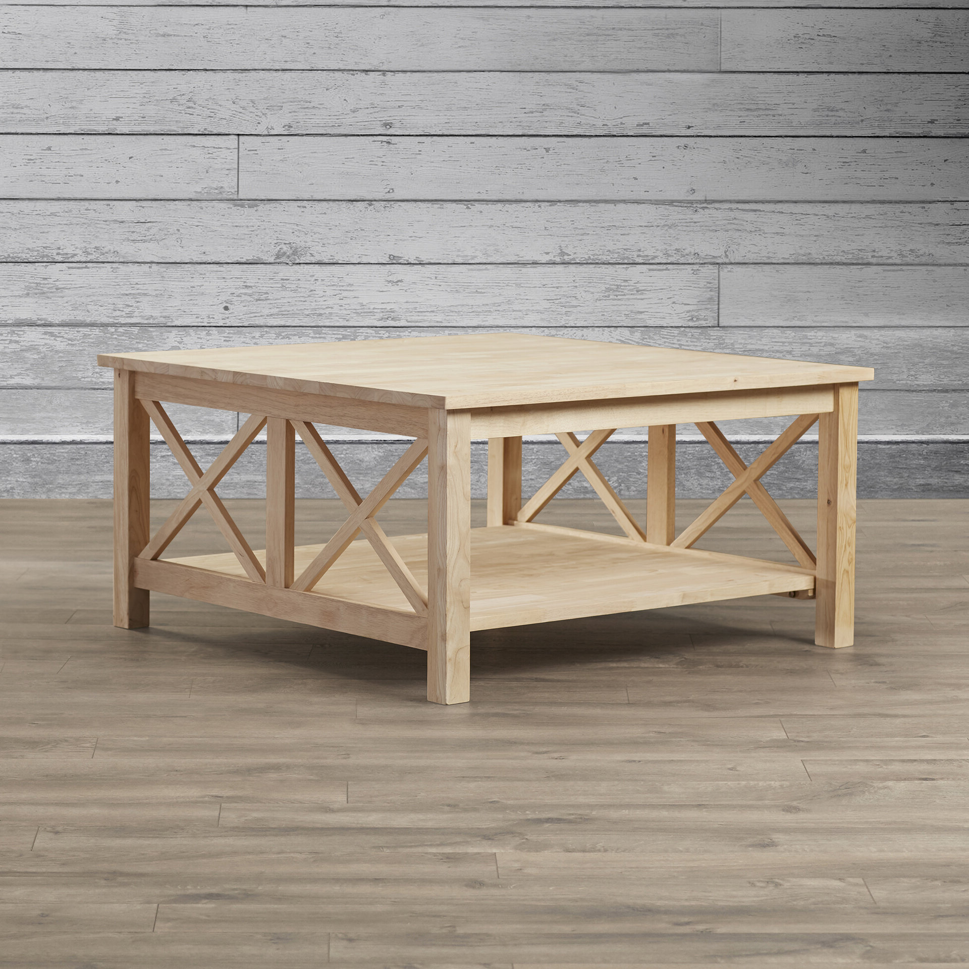 Beachcrest Home Cosgrave Coffee Table With Storage & Reviews With Regard To Well Liked Unfinished Solid Parawood Square Coffee Tables (View 10 of 20)