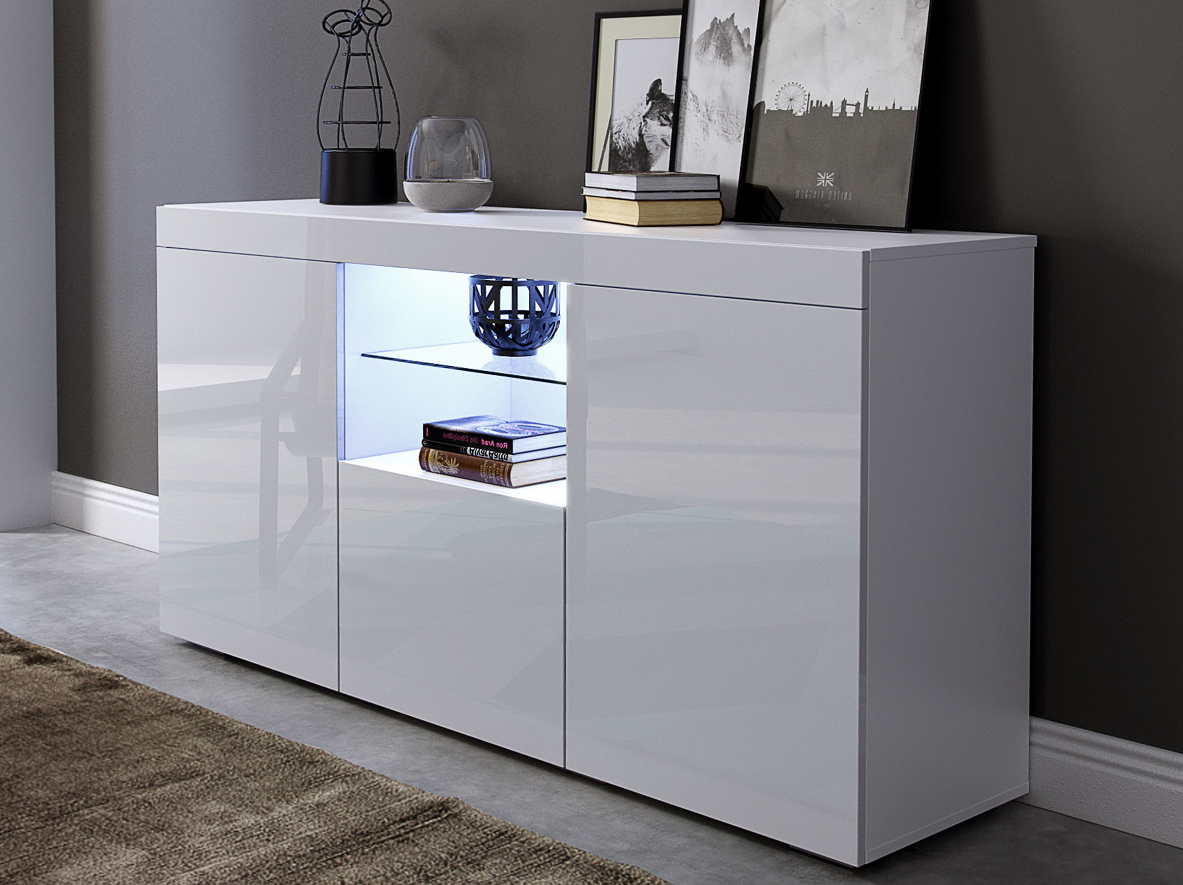 Beatrix Sideboard With Led Lighting For Metro Sideboards (View 1 of 20)
