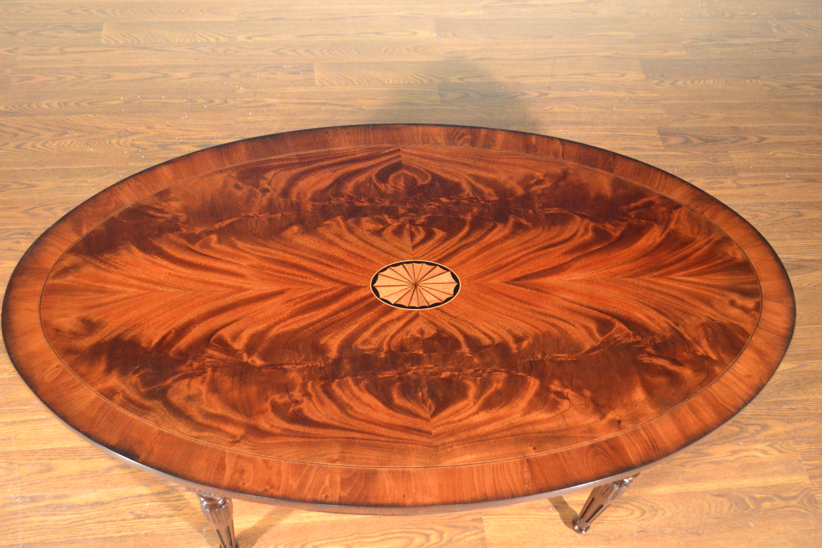 Best And Newest Copper Grove Woodend Glass Top Oval Coffee Tables In Leighton Hall Mahogany Traditional Sheraton Oval Coffee Cocktail Table (View 2 of 20)