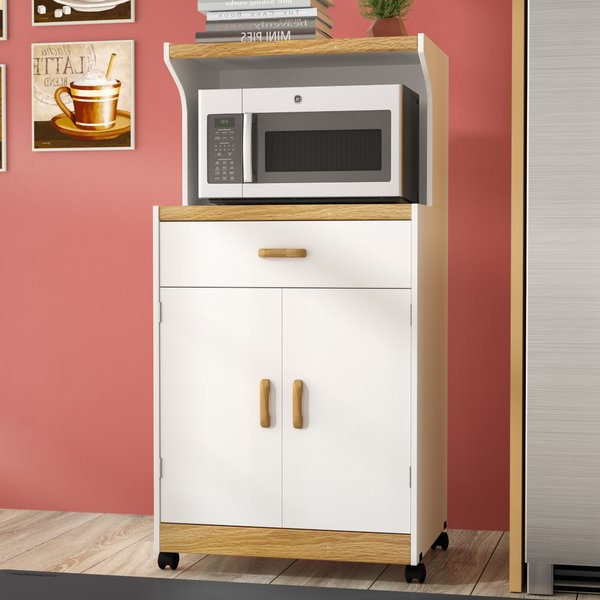 Best And Newest Microwave Cart With Hutch (View 13 of 20)