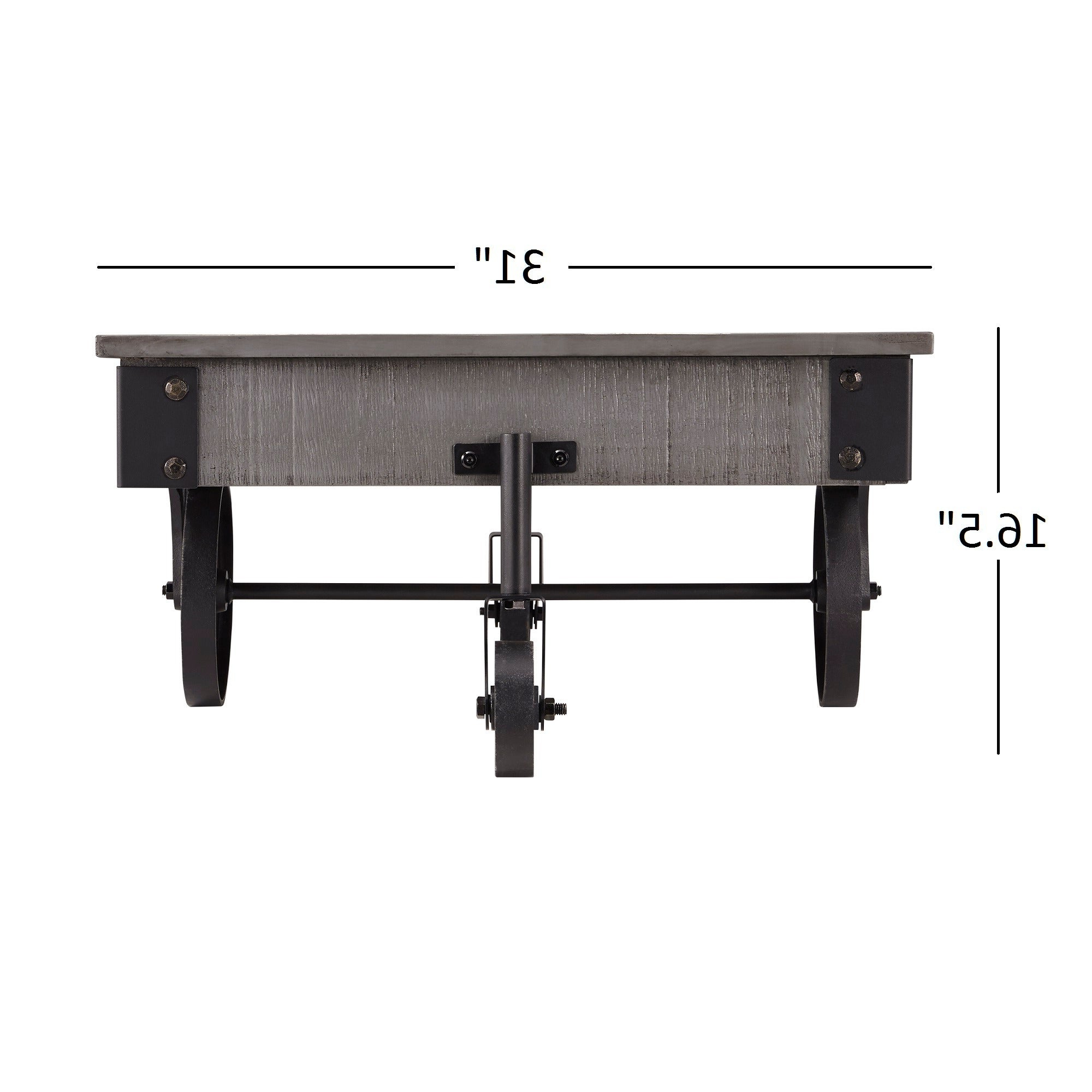 Best And Newest Myra Vintage Industrial Modern Rustic 47 Inch Coffee Tables With Regard To Myra Vintage Industrial Modern Rustic 47 Inch Coffee Tableinspire Q  Classic (View 2 of 20)