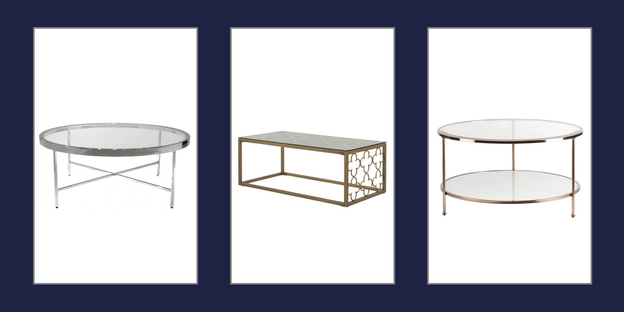 Best Glass Coffee Tables – Coffee Tables With Glass Tops Pertaining To Well Liked The Curated Nomad Quatrefoil Goldtone Metal And Glass Coffee Tables (View 4 of 20)