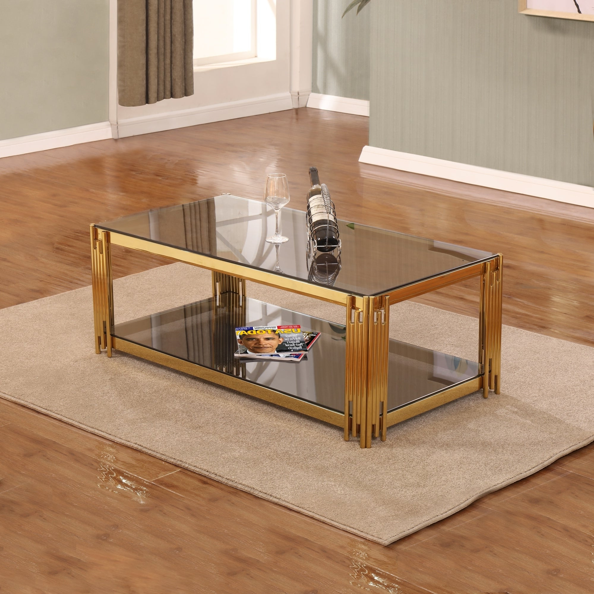 Best Quality Furniture Rectangular Glass Top Coffee Table Within Favorite Kisper Rectangular Cocktail Tables (View 2 of 20)