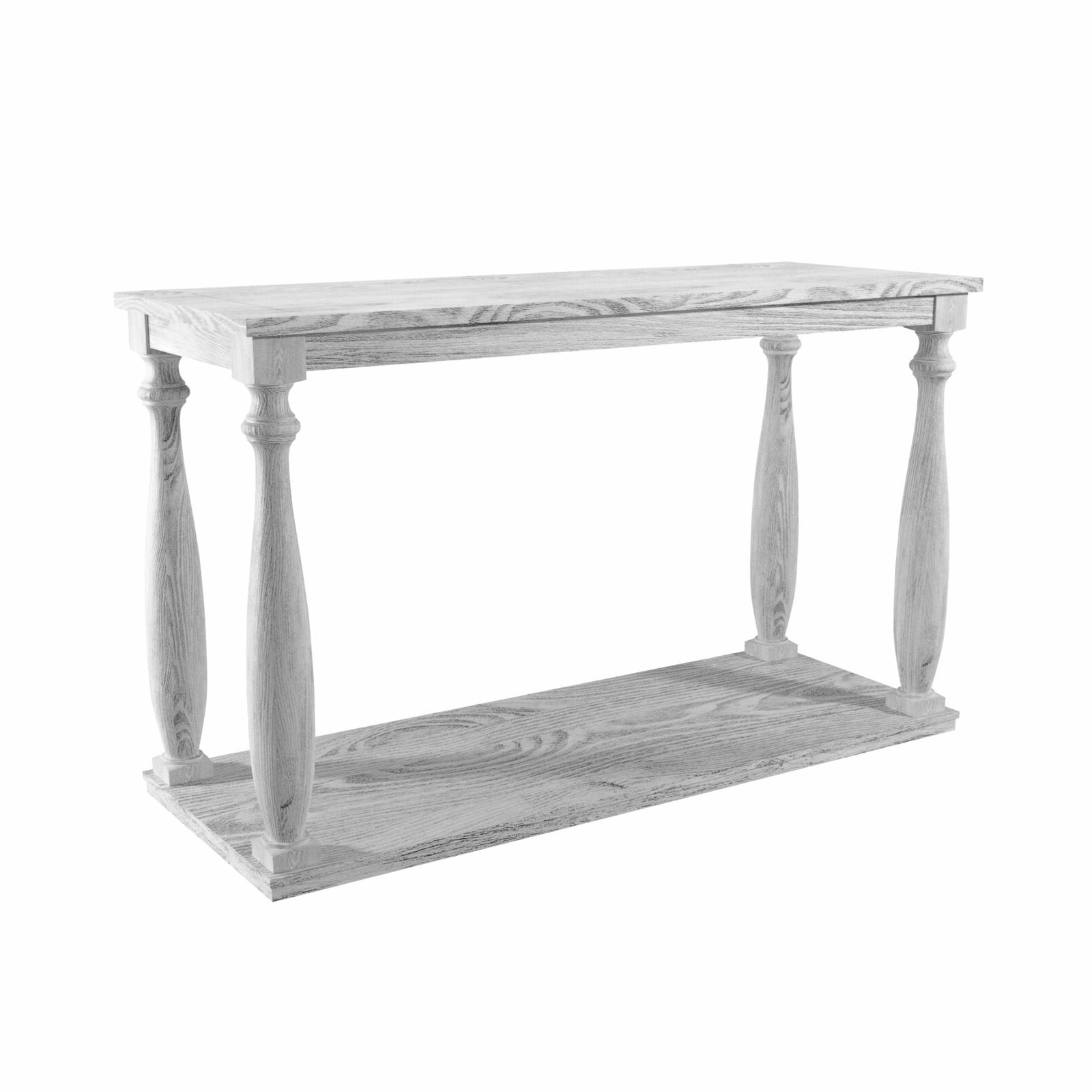 Bethany Traditional Antique White Sofa Tablefoa Antique White N/a In Well Known Cohler Traditional Brown Cherry Oval Coffee Tables (View 15 of 20)