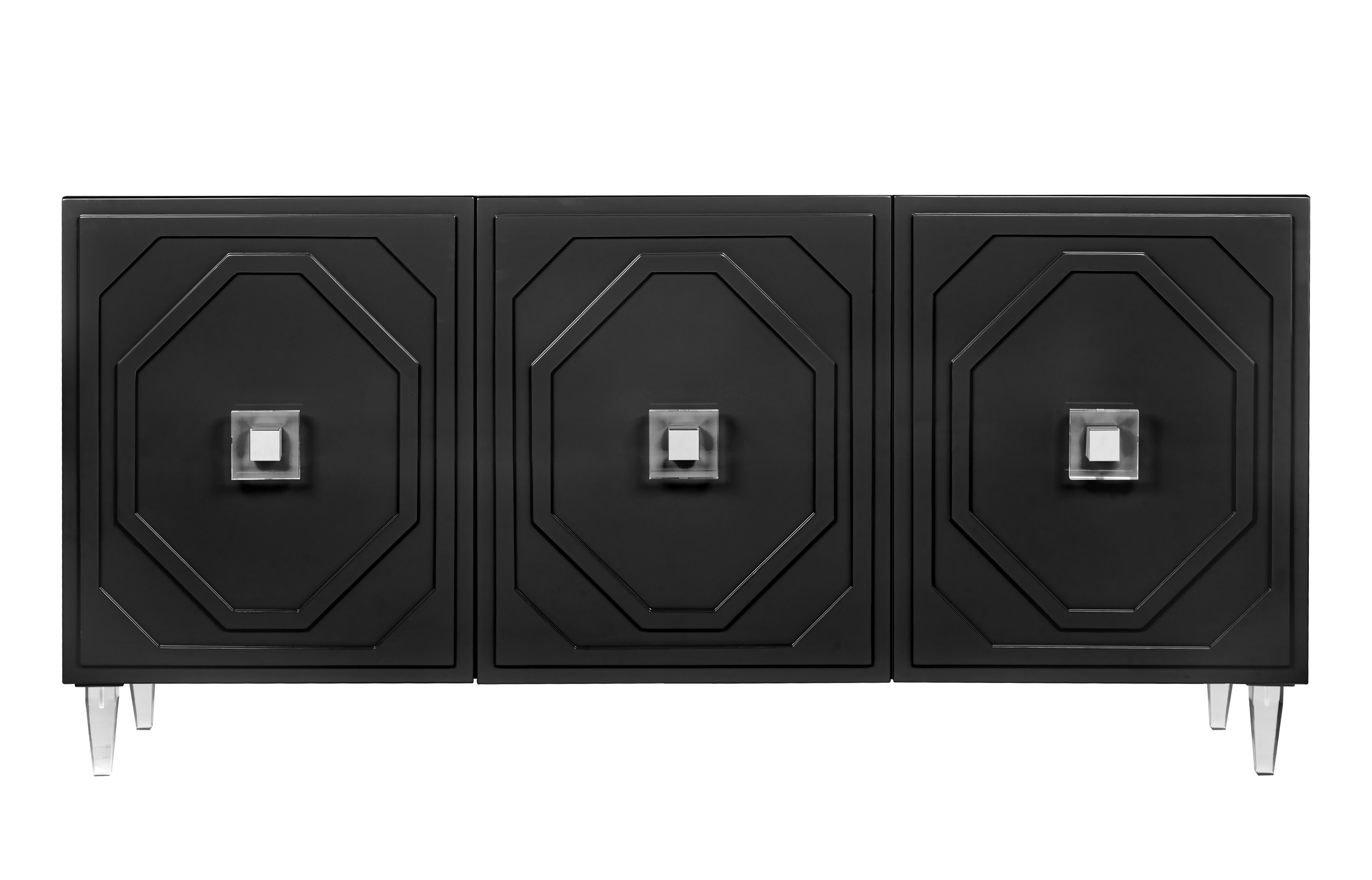 Black Sideboards & Buffets   Joss & Main Within Dowler 2 Drawer Sideboards (View 16 of 20)