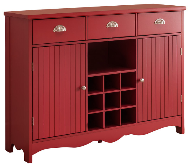 Blairwood Kitchen Pantry Pertaining To Well Known Oralie Wood Buffet With Wine Rack, Red (View 6 of 20)