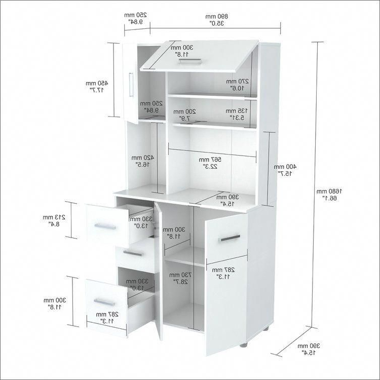 """Blanken Kitchen Pantry For Famous Blanken 66"""" Kitchen Pantry #diykitchencabinets (View 4 of 20)"""