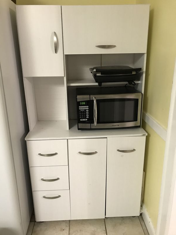 Blanken Kitchen Pantry For Most Recent Kitchen Pantry / Microwave / Storage Cabinet For Sale In Waltham, Ma – Offerup (View 3 of 20)