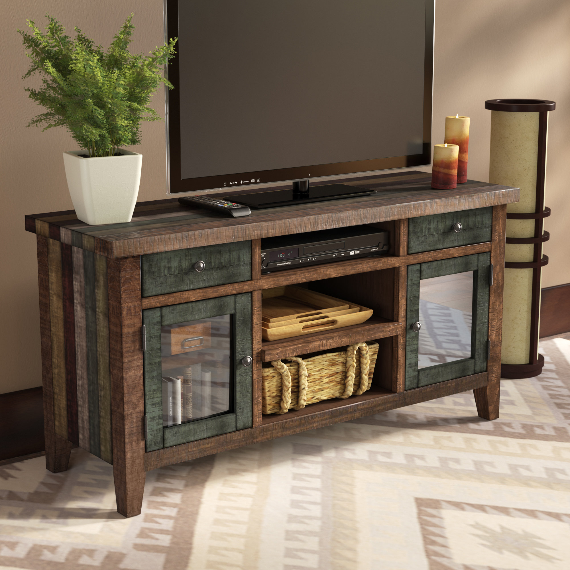 "Blue Tv Stands You'll Love In 2019 | Wayfair Throughout Colefax Vintage Tv Stands For Tvs Up To 78"" (View 16 of 20)"