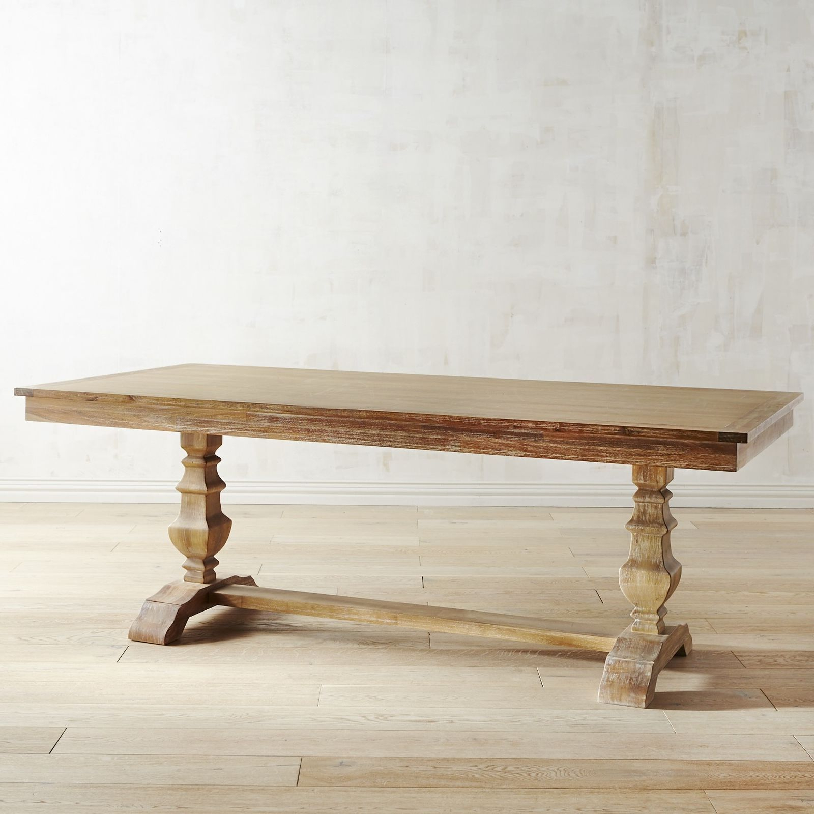"""Bradding Natural Stonewash 84"""" Dining Table In  (View 4 of 20)"""