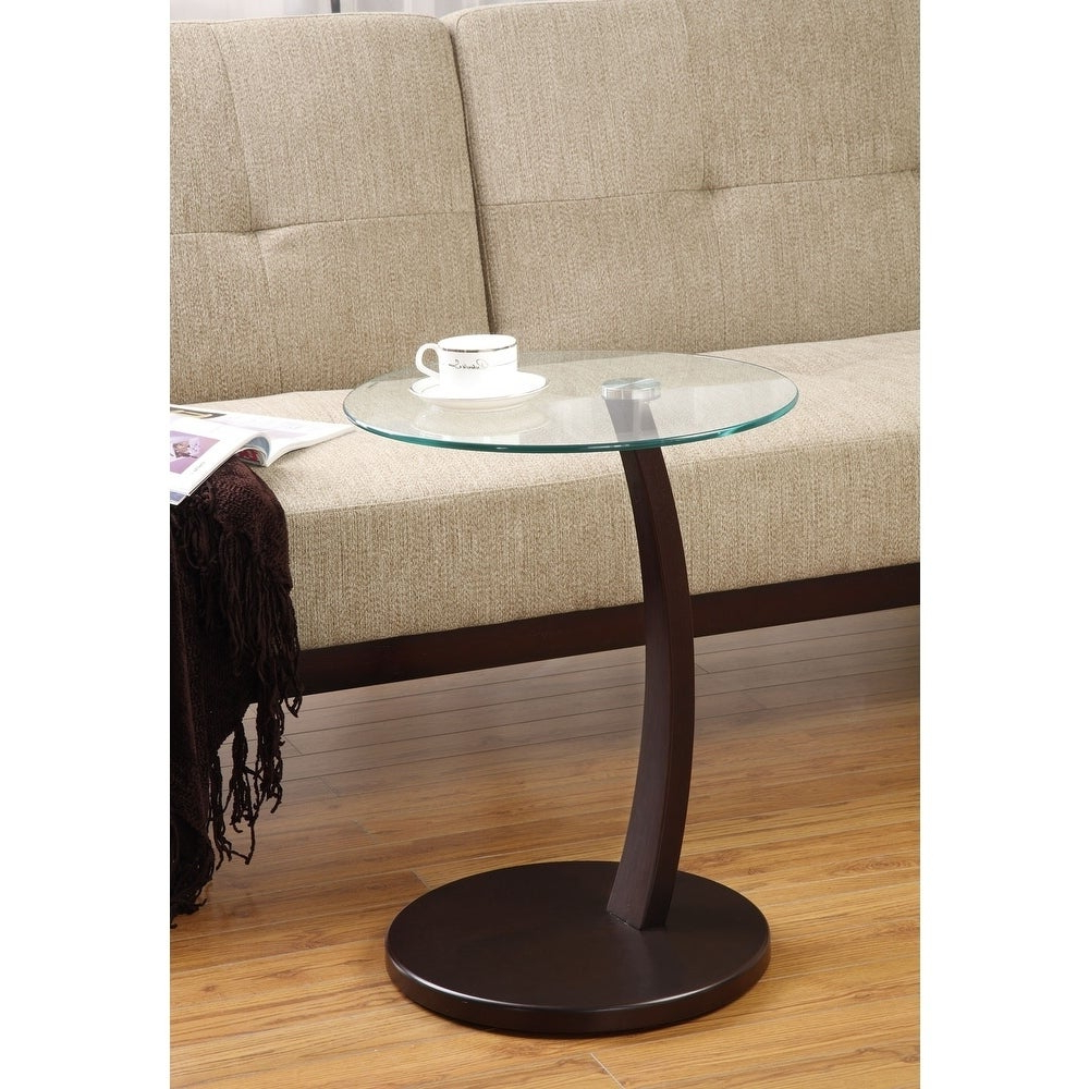 Bradley Glass And Wood Accent Table With Widely Used Copper Grove Rochon Glass Top Wood Accent Tables (View 8 of 20)