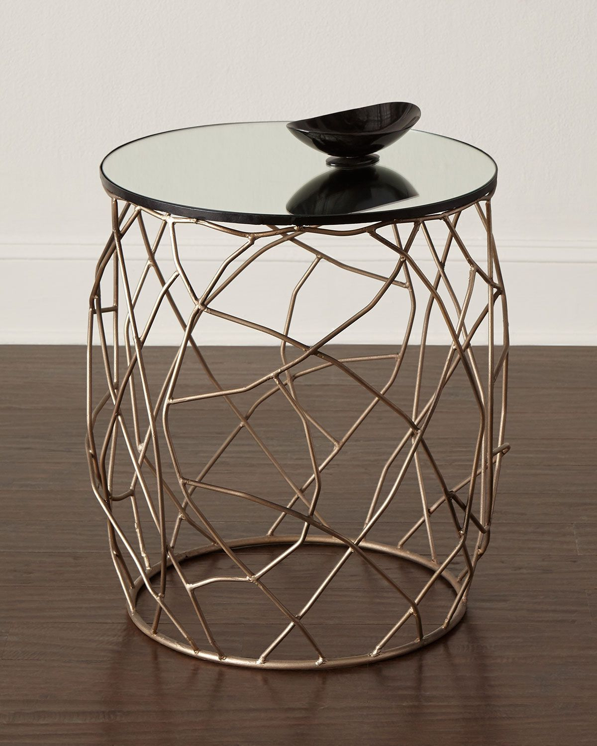 Brass Side Table, Bedside (View 4 of 20)