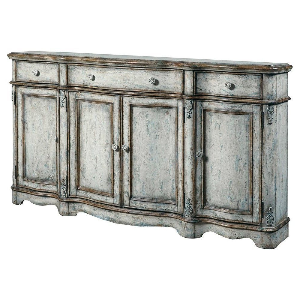 Bristol Credenza With Distressed Grey Finish – Home Meridian For Hewlett Sideboards (View 17 of 20)