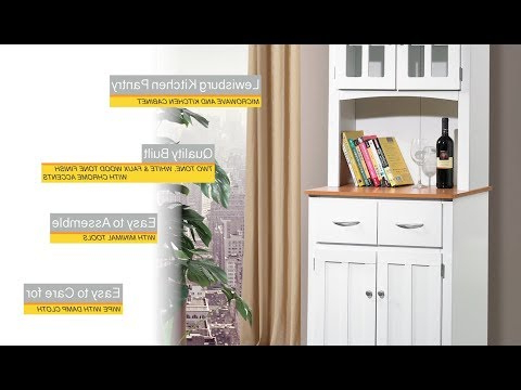 Brook White Wf – Youtube Inside Most Current Lewisburg Kitchen Pantry (View 2 of 20)