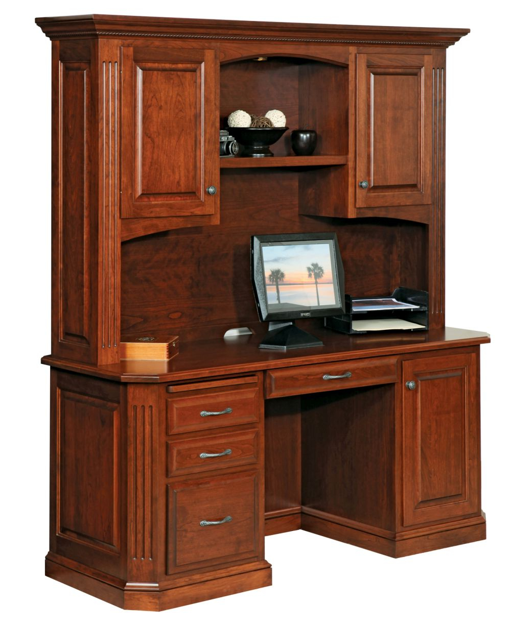 """Buckingham 68"""" Credenza Desk (with Hutch Top) Throughout Stephen Credenzas (View 17 of 20)"""