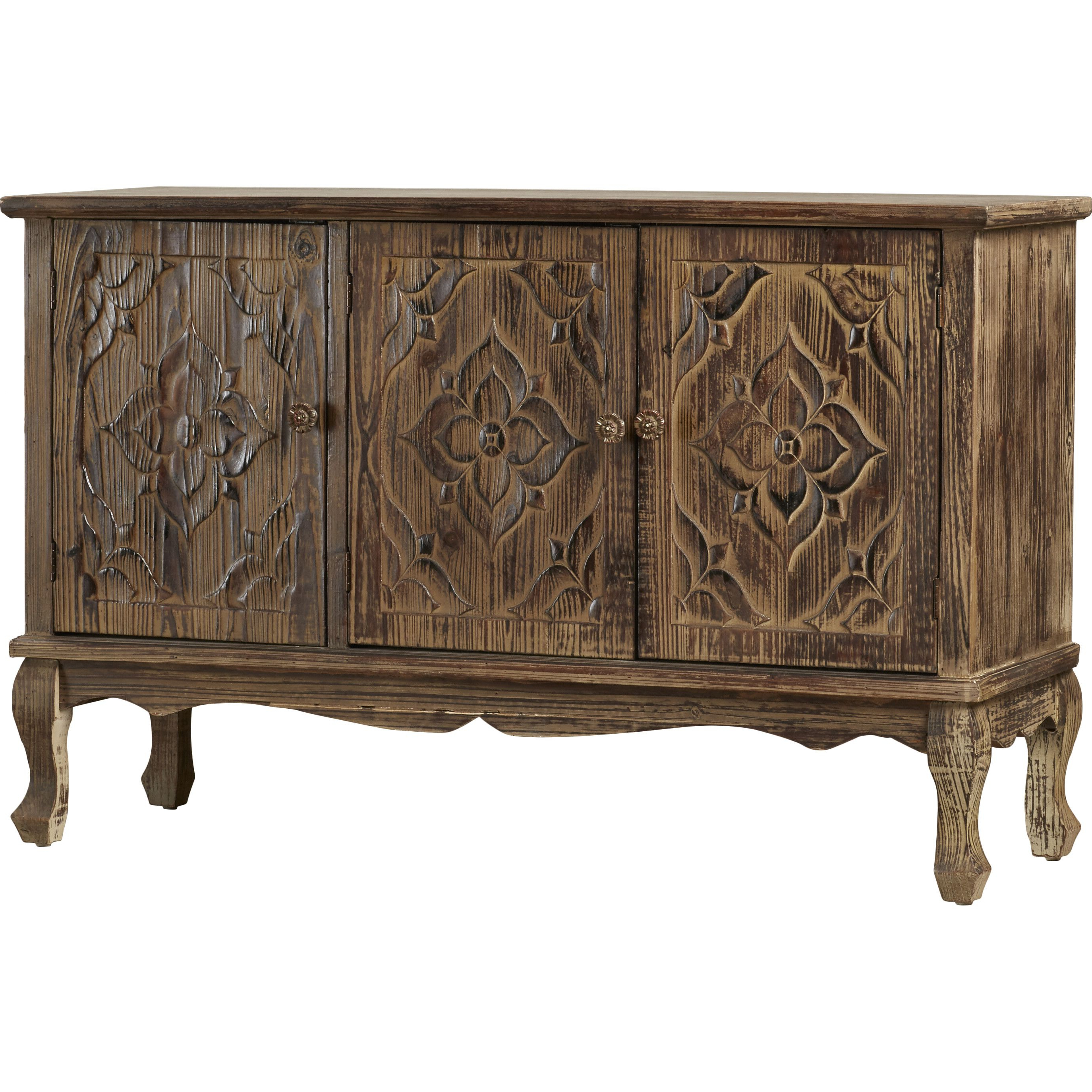 Bungalow Rose Censier 3 Door Credenza | Console Tables For Mauzy Sideboards (View 3 of 20)