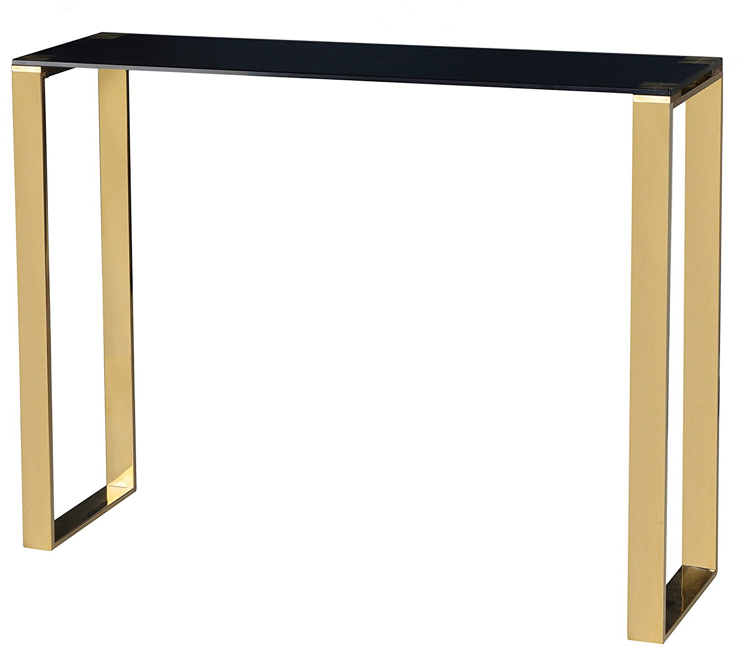 Buy Cortesi Home Remini Narrow Contemporary Glass Console Within Popular Cortesi Home Remi Contemporary Chrome Glass Coffee Tables (View 2 of 20)