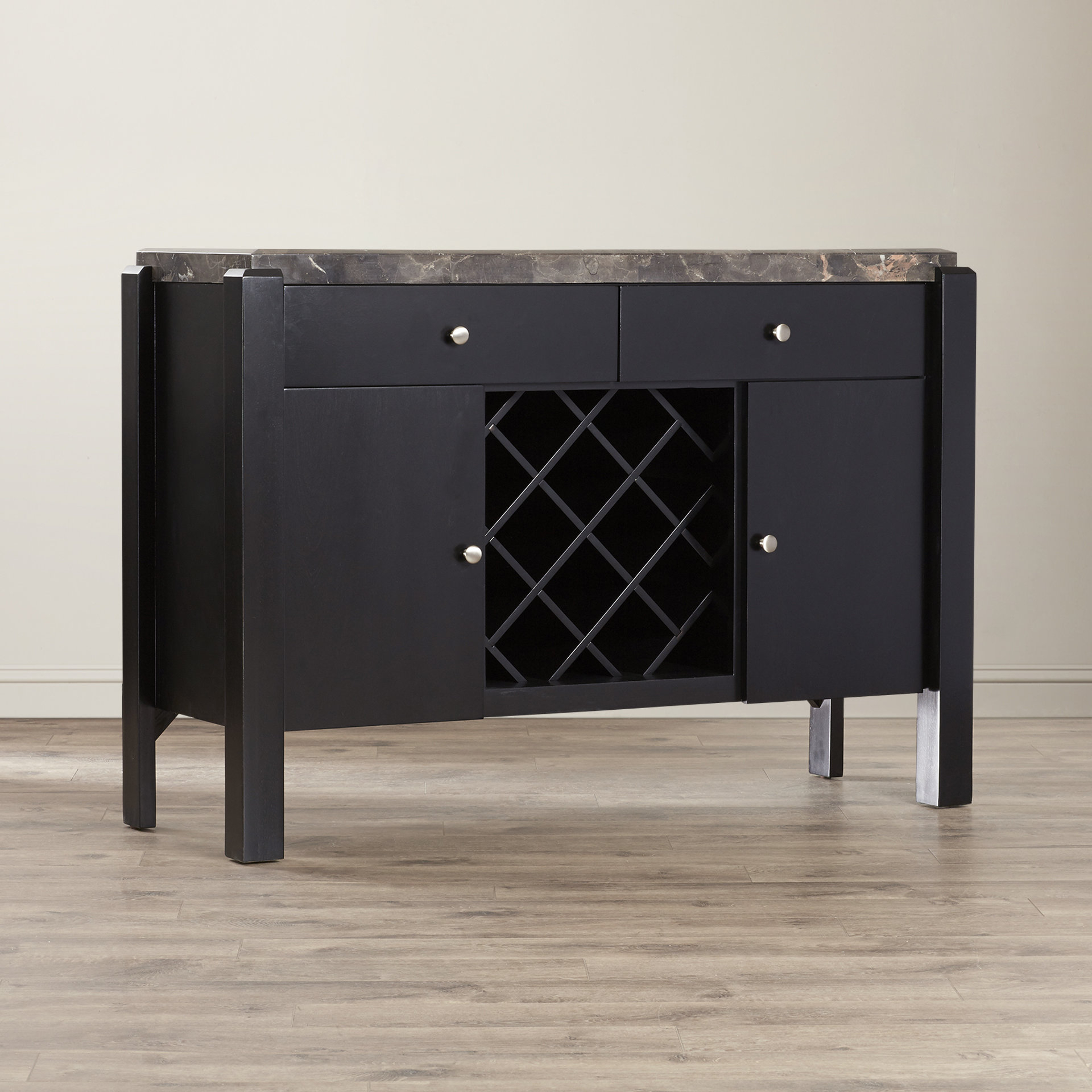 Cabinet Equipped Marble & Granite Sideboards & Buffets You For Weinberger Sideboards (View 9 of 20)