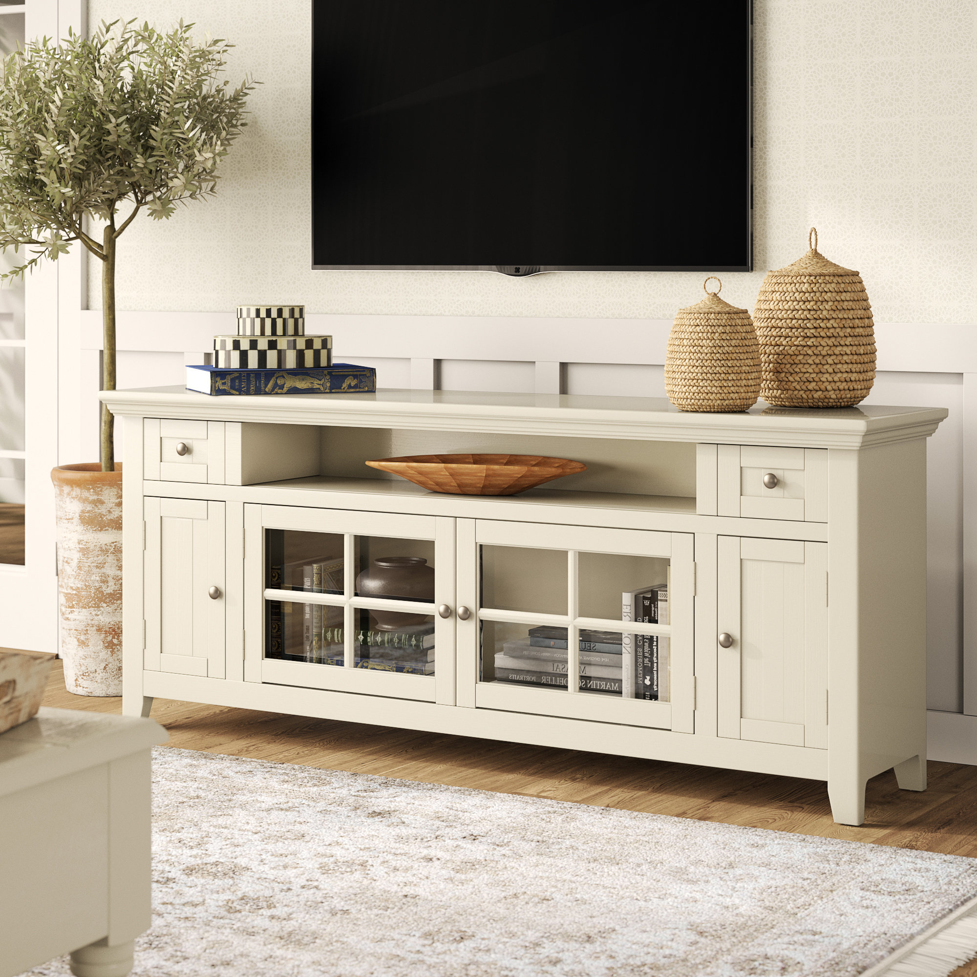 "Calila Tv Stand For Tvs Up To 70"" Pertaining To Colefax Vintage Tv Stands For Tvs Up To 78"" (View 4 of 20)"