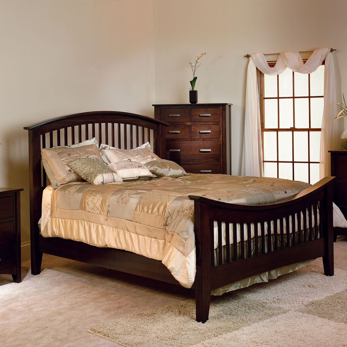 Cambrai Mission Bedroom Set – American Made Custom Furniture With Cambrai Sideboards (View 4 of 20)