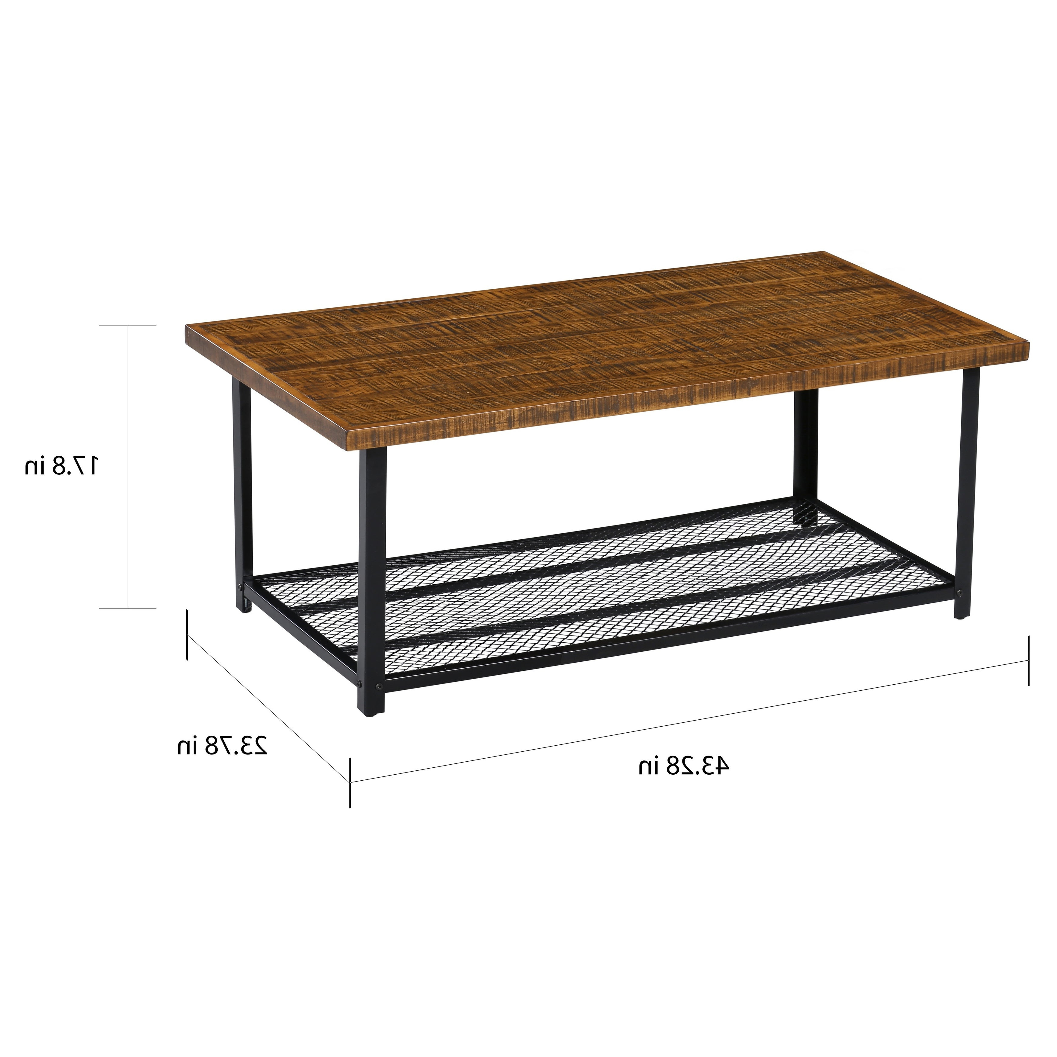 Carbon Loft Enjolras Wood/ Steel Coffee Table With Storage Shelf Pertaining To Fashionable Carbon Loft Enjolras Wood Steel Coffee Tables (View 8 of 20)
