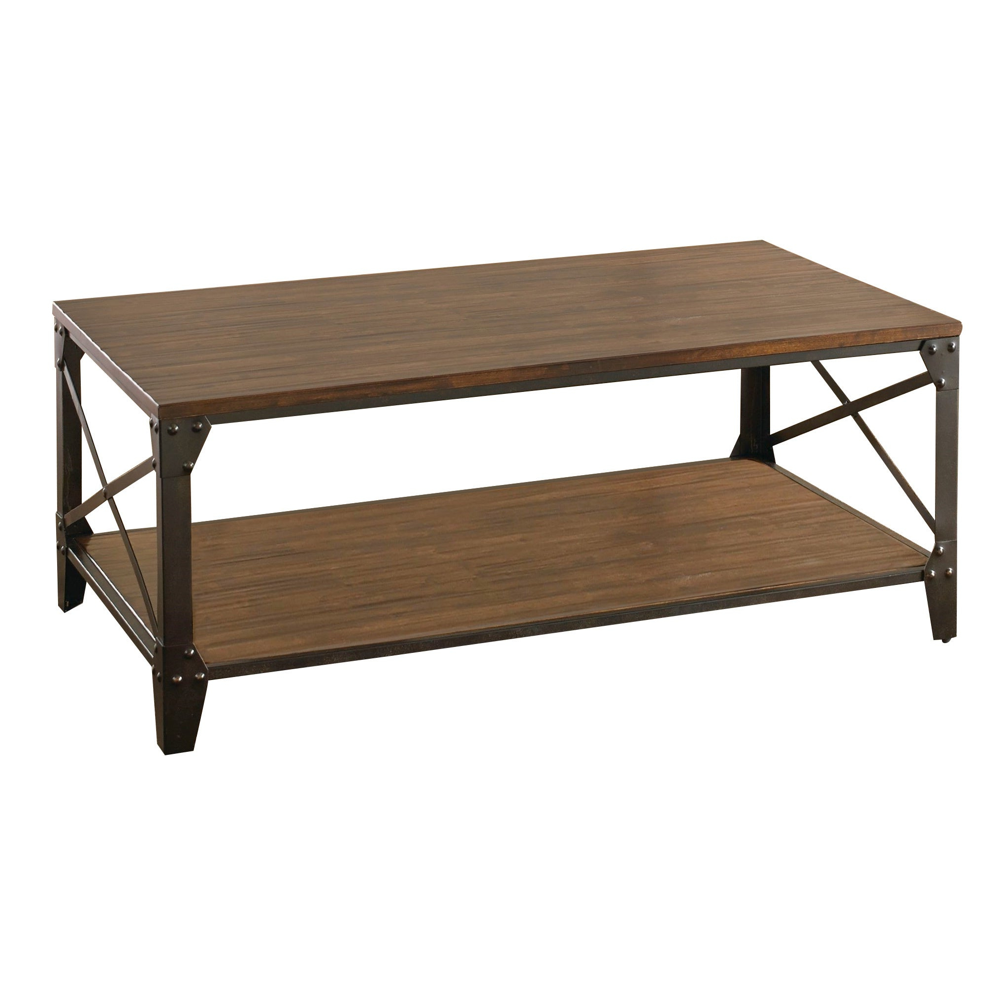 Carbon Loft Fischer Brown Solid Birch And Iron Rustic Coffee Table Regarding Most Recently Released Carbon Loft Kenyon Natural Rustic Coffee Tables (View 10 of 20)