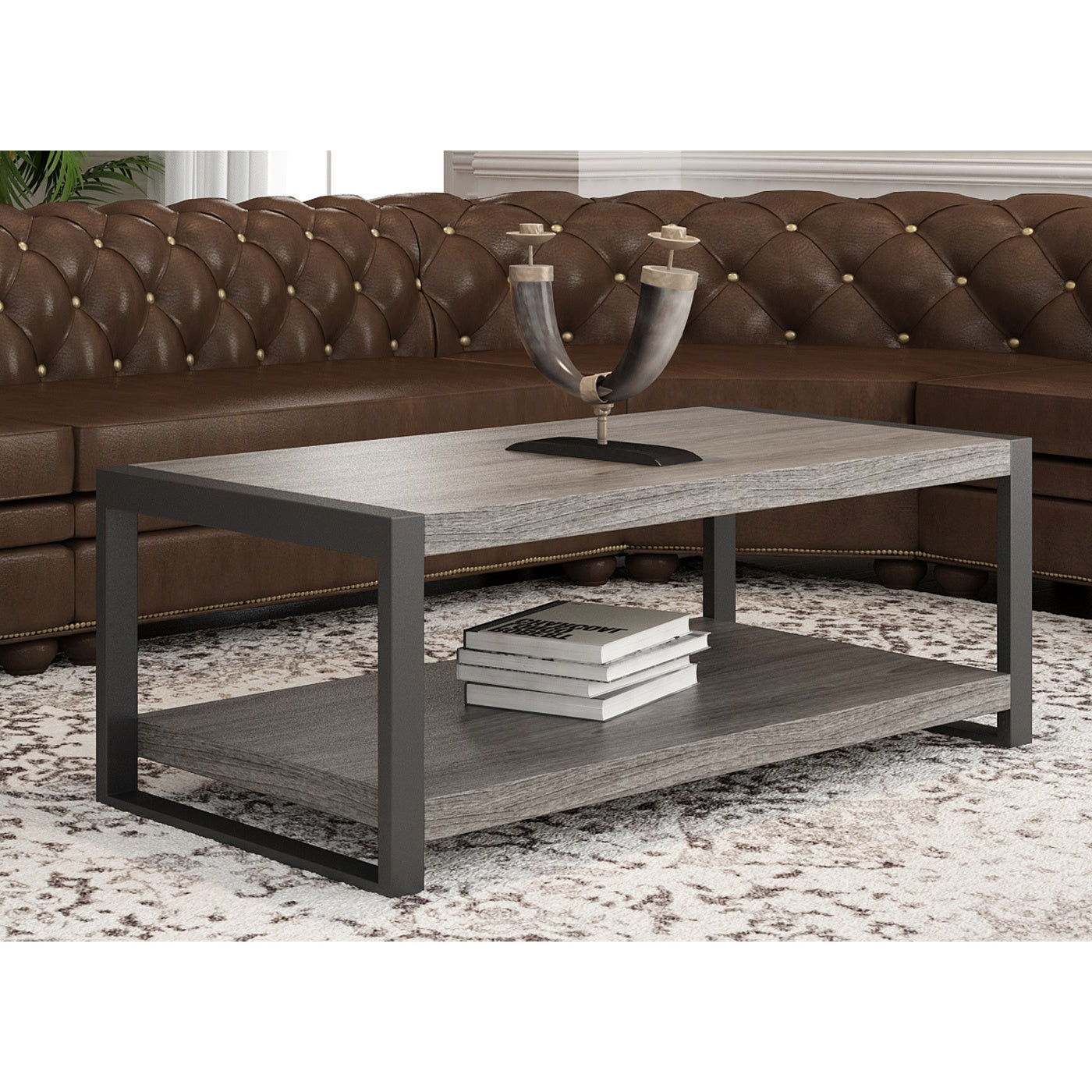 Carbon Loft Hamilton 48 Inch Coffee Table – 48 X 24 X 18H Intended For Current Carbon Loft Hamilton 48 Inch Coffee Tables (View 8 of 20)