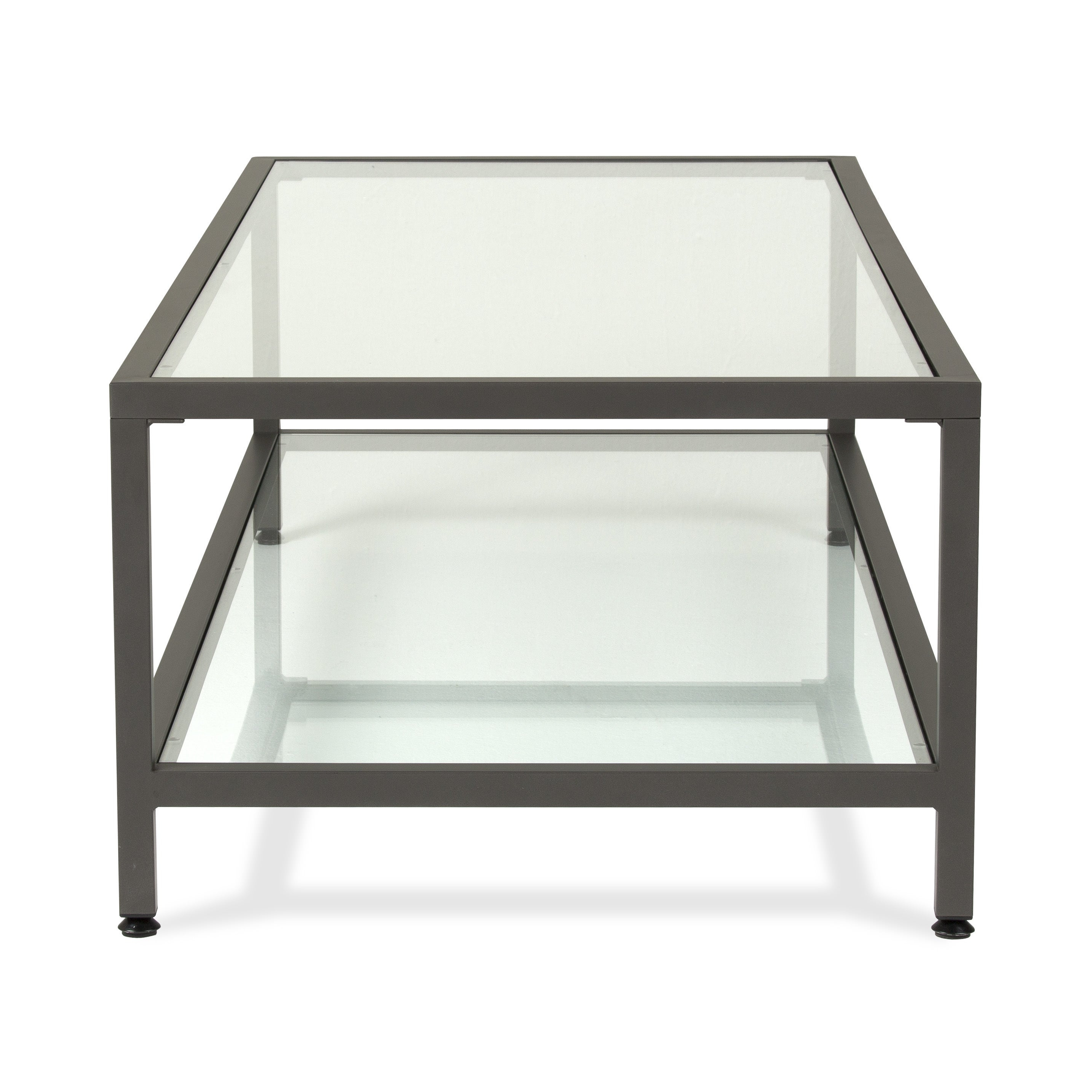 Carbon Loft Heimlich Metal/glass Rectangle Coffee Table Pertaining To Popular Carbon Loft Heimlich Metal Glass Rectangle Coffee Tables (View 6 of 20)