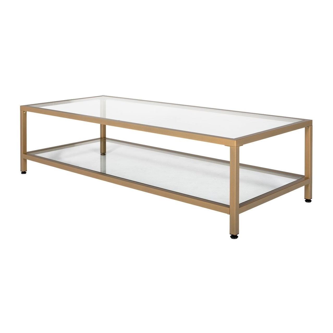Featured Photo of Carbon Loft Heimlich Metal Glass Rectangle Coffee Tables