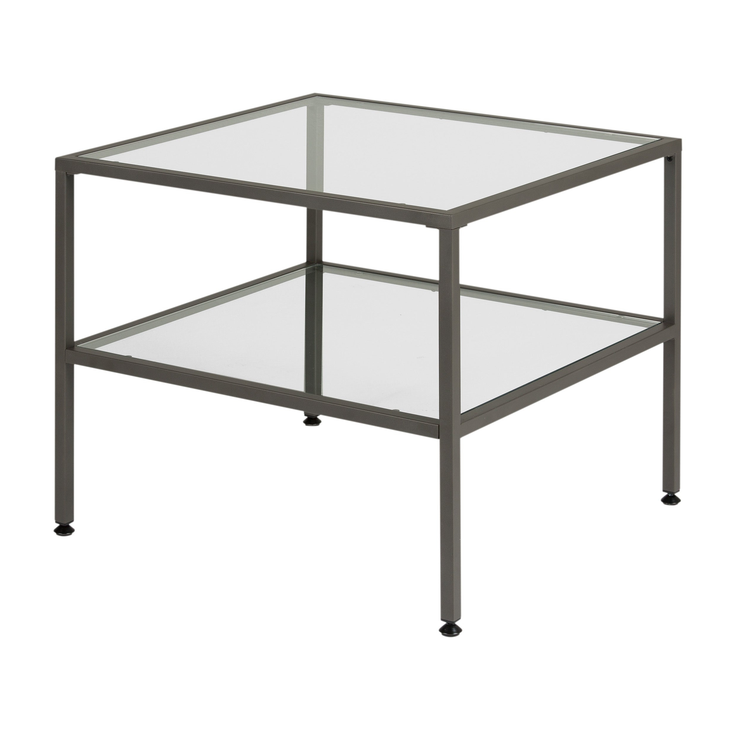 Carbon Loft Heimlich One Shelf End Table Throughout 2020 Carbon Loft Heimlich Pewter Steel/glass Round Coffee Tables (View 5 of 20)