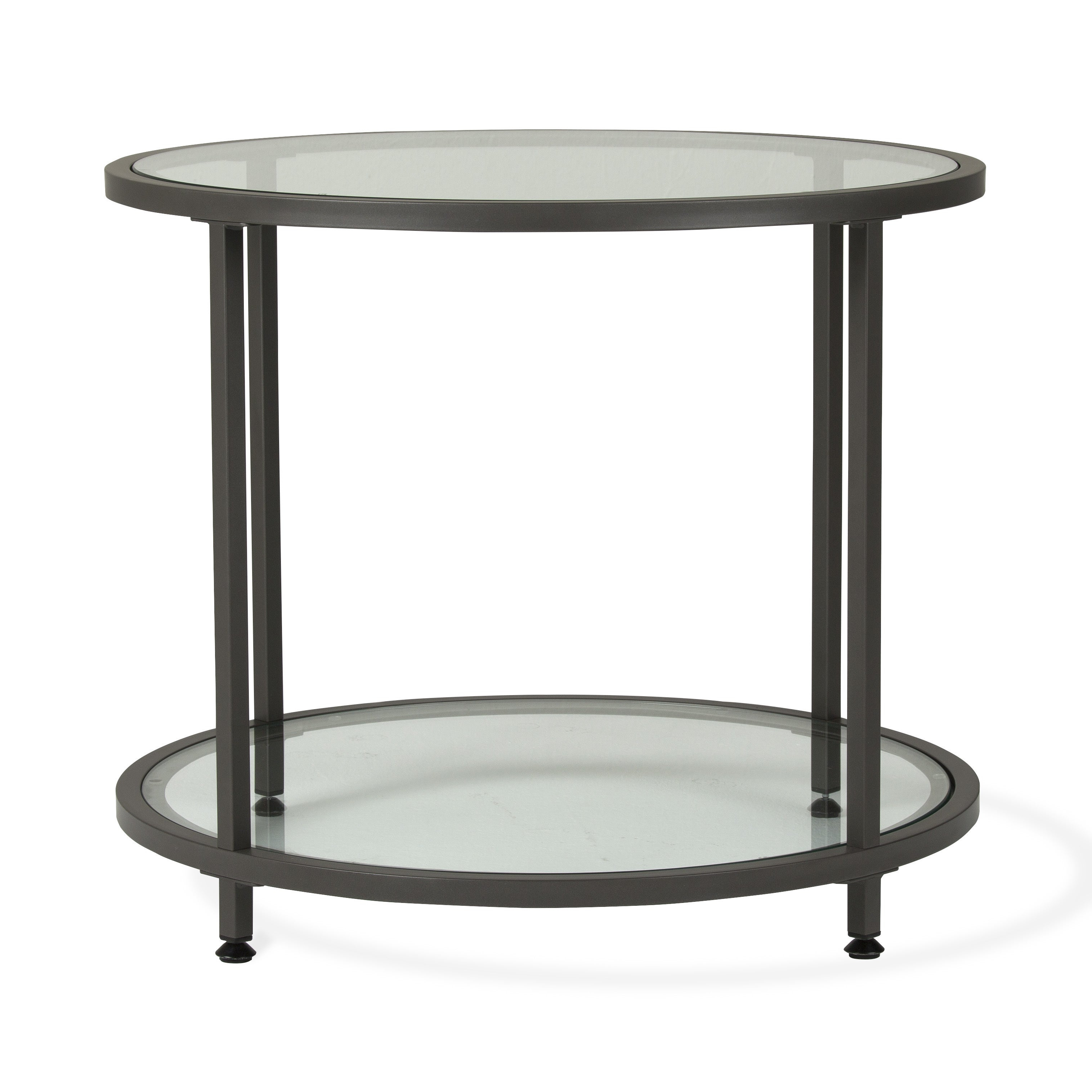 Carbon Loft Heimlich Pewter Metal Round Side Table Throughout 2019 Carbon Loft Heimlich Pewter Steel/glass Round Coffee Tables (View 6 of 20)