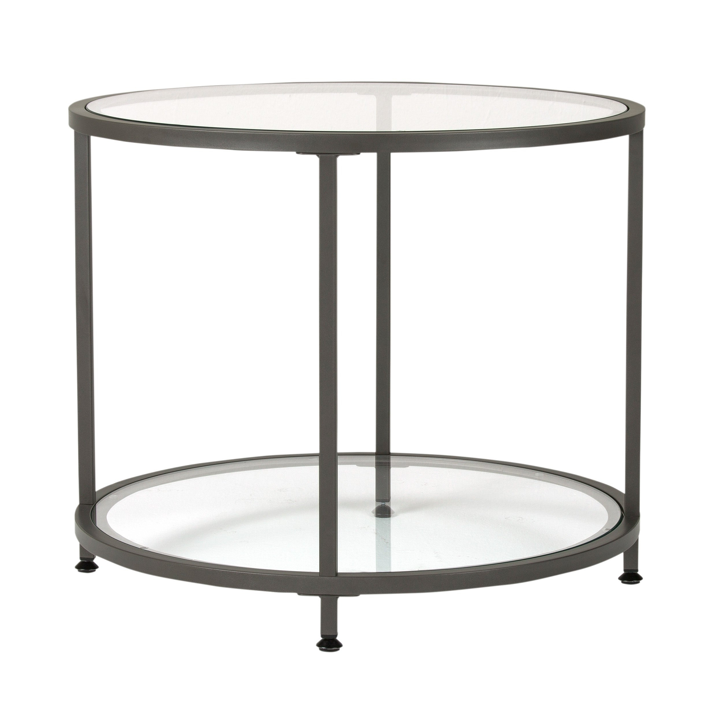 Carbon Loft Heimlich Pewter Metal Round Side Table With Preferred Carbon Loft Heimlich Pewter Steel/glass Round Coffee Tables (View 7 of 20)