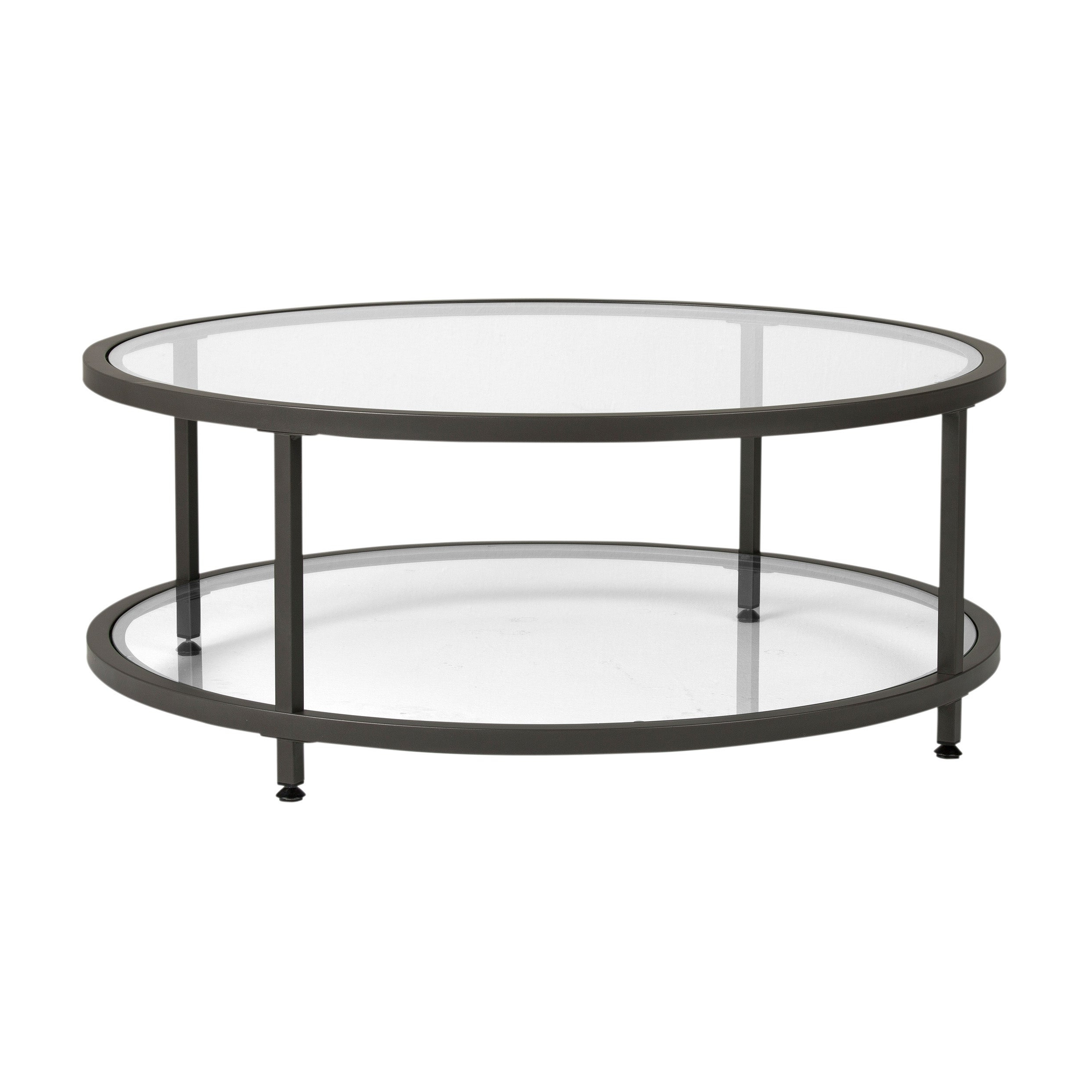 Carbon Loft Heimlich Pewter Steel/glass Round Coffee Table Pertaining To Well Liked Carbon Loft Heimlich Metal Glass Rectangle Coffee Tables (View 12 of 20)