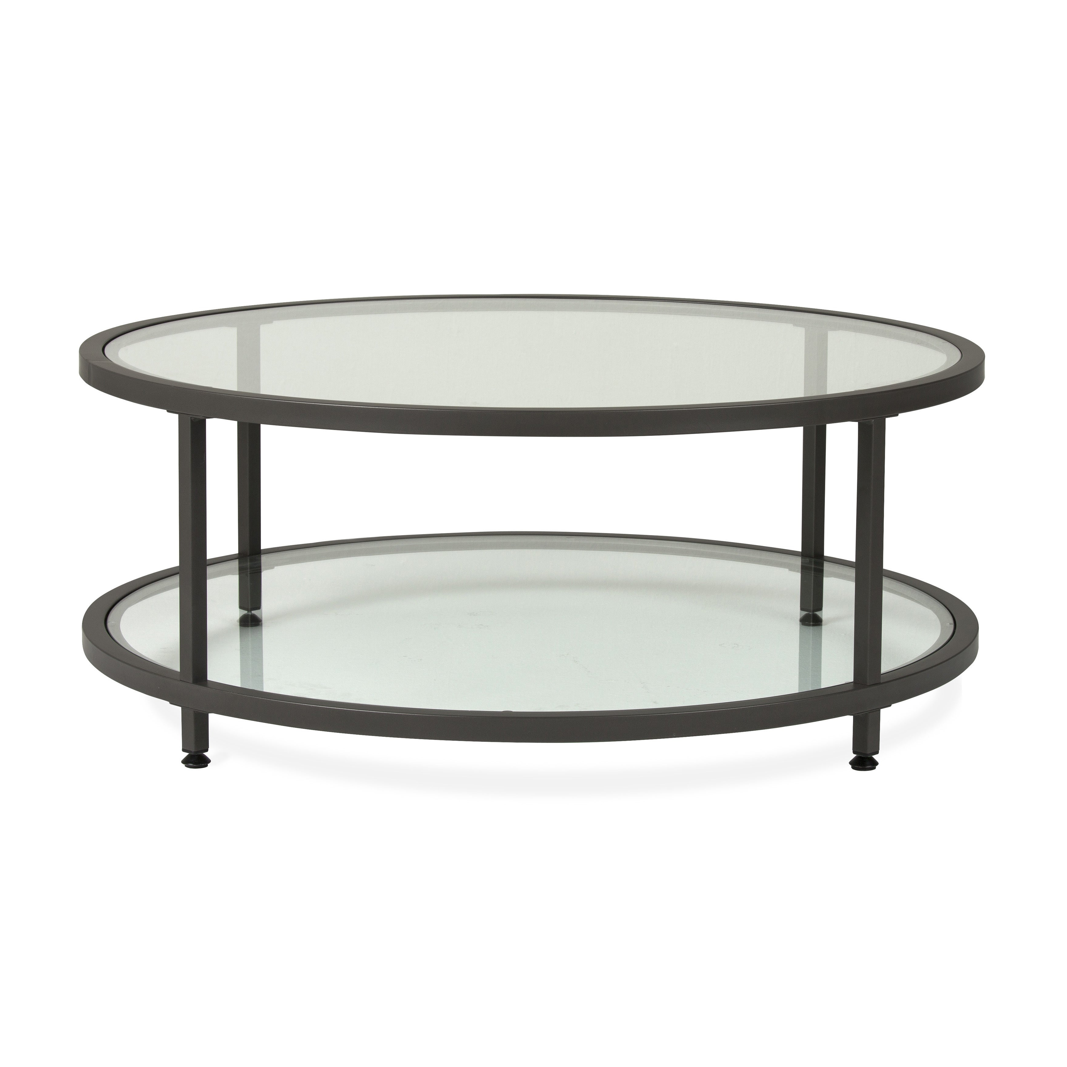 Carbon Loft Heimlich Pewter Steel/glass Round Coffee Table With Regard To Most Up To Date Carbon Loft Heimlich Pewter Steel/glass Round Coffee Tables (View 12 of 20)