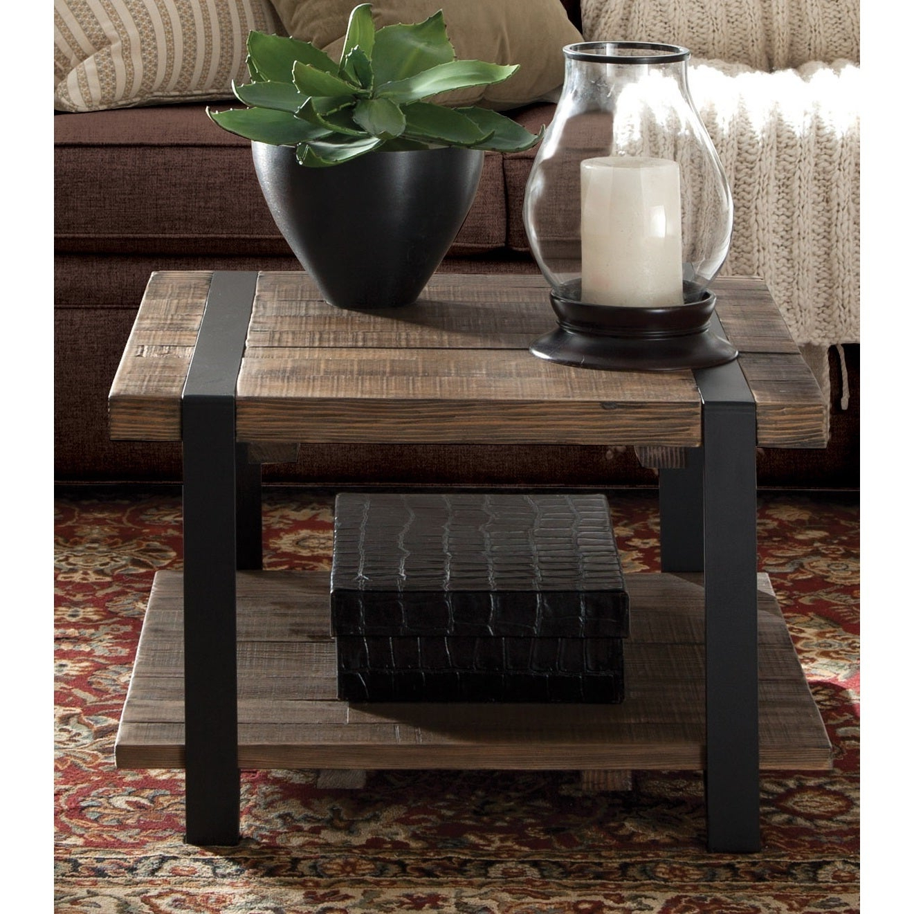 Featured Photo of Carbon Loft Kenyon Cube Brown Wood Rustic Coffee Tables