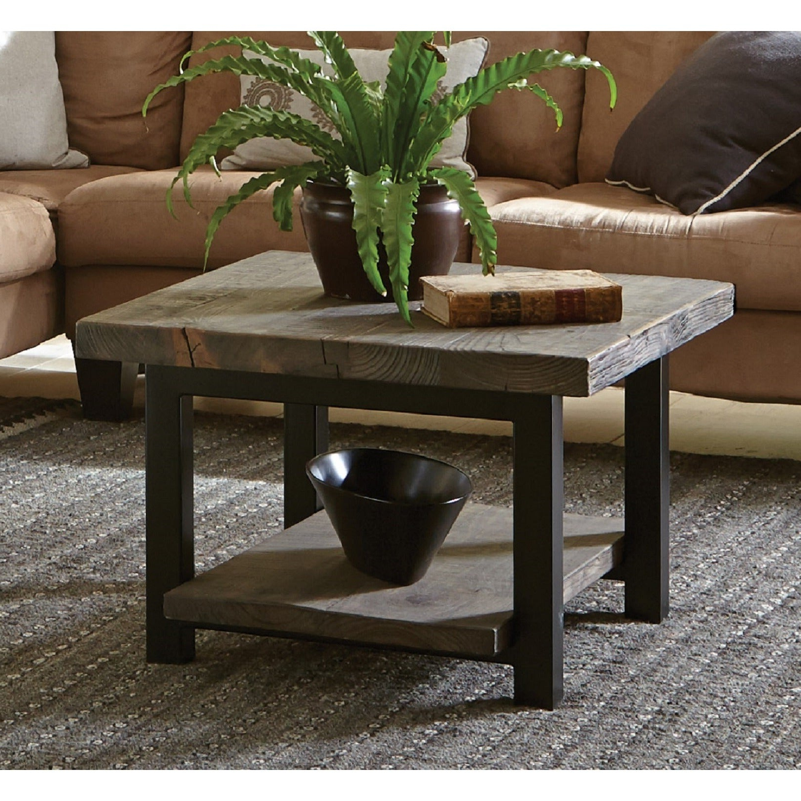 Carbon Loft Lawrence Reclaimed Cube Coffee Table For Popular Carbon Loft Kenyon Cube Brown Wood Rustic Coffee Tables (View 11 of 20)