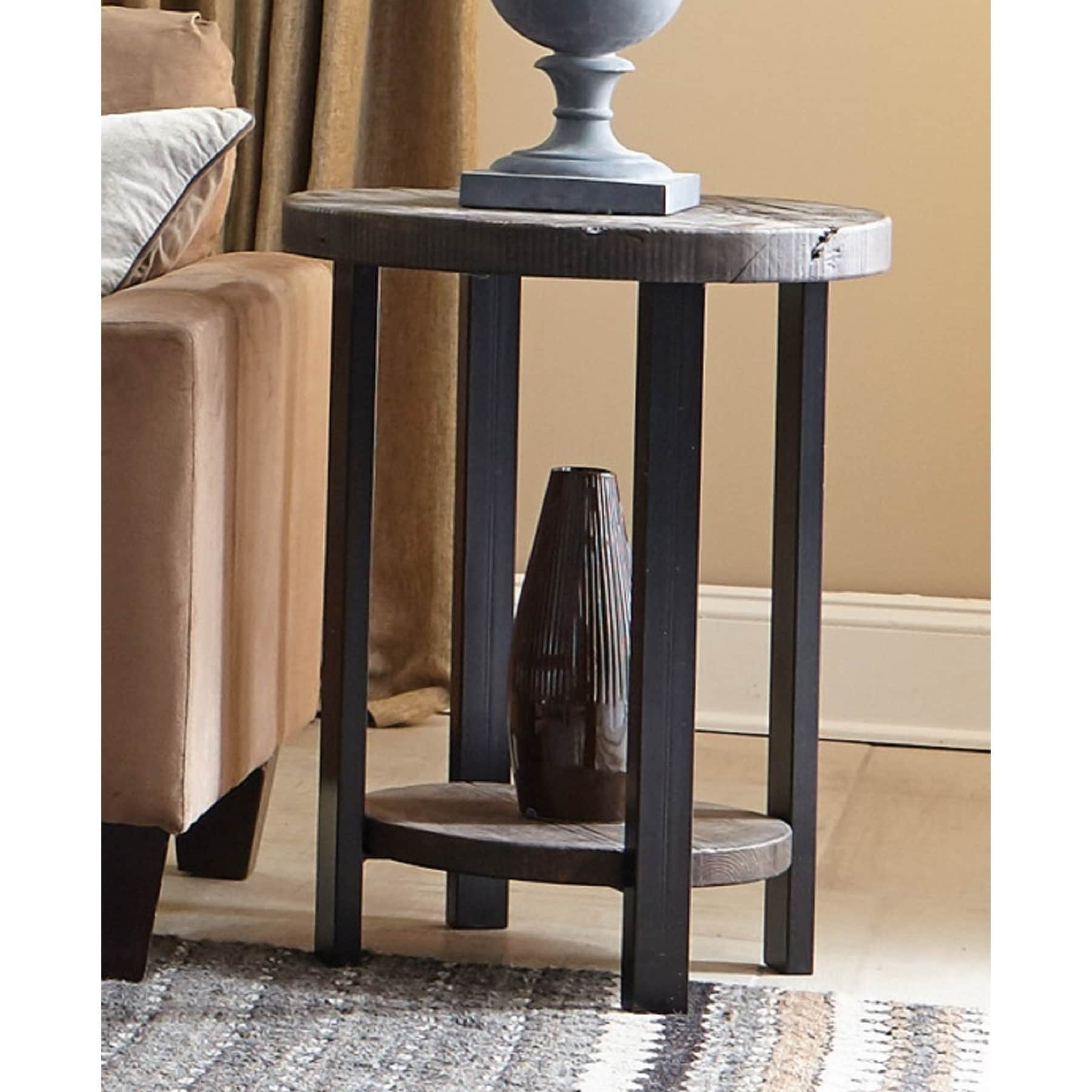 Carbon Loft Lawrence Reclaimed Wood End Table In Natural (As Throughout Well Known Carbon Loft Lawrence Metal And Reclaimed Wood Coffee Tables (View 6 of 20)