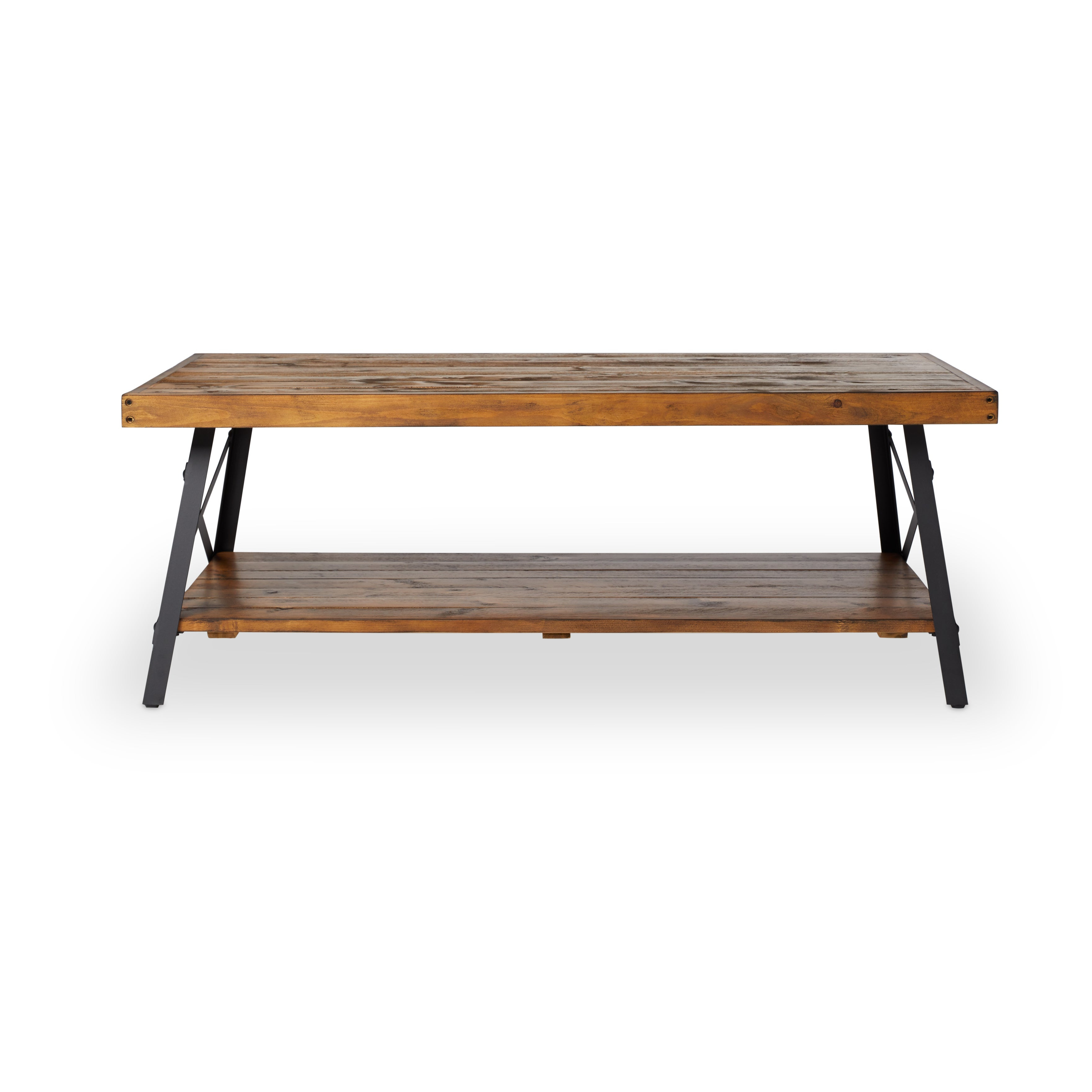 Carbon Loft Oliver Modern Rustic Natural Fir Coffee Table With Regard To Newest Carbon Loft Enjolras Wood Steel Coffee Tables (View 11 of 20)