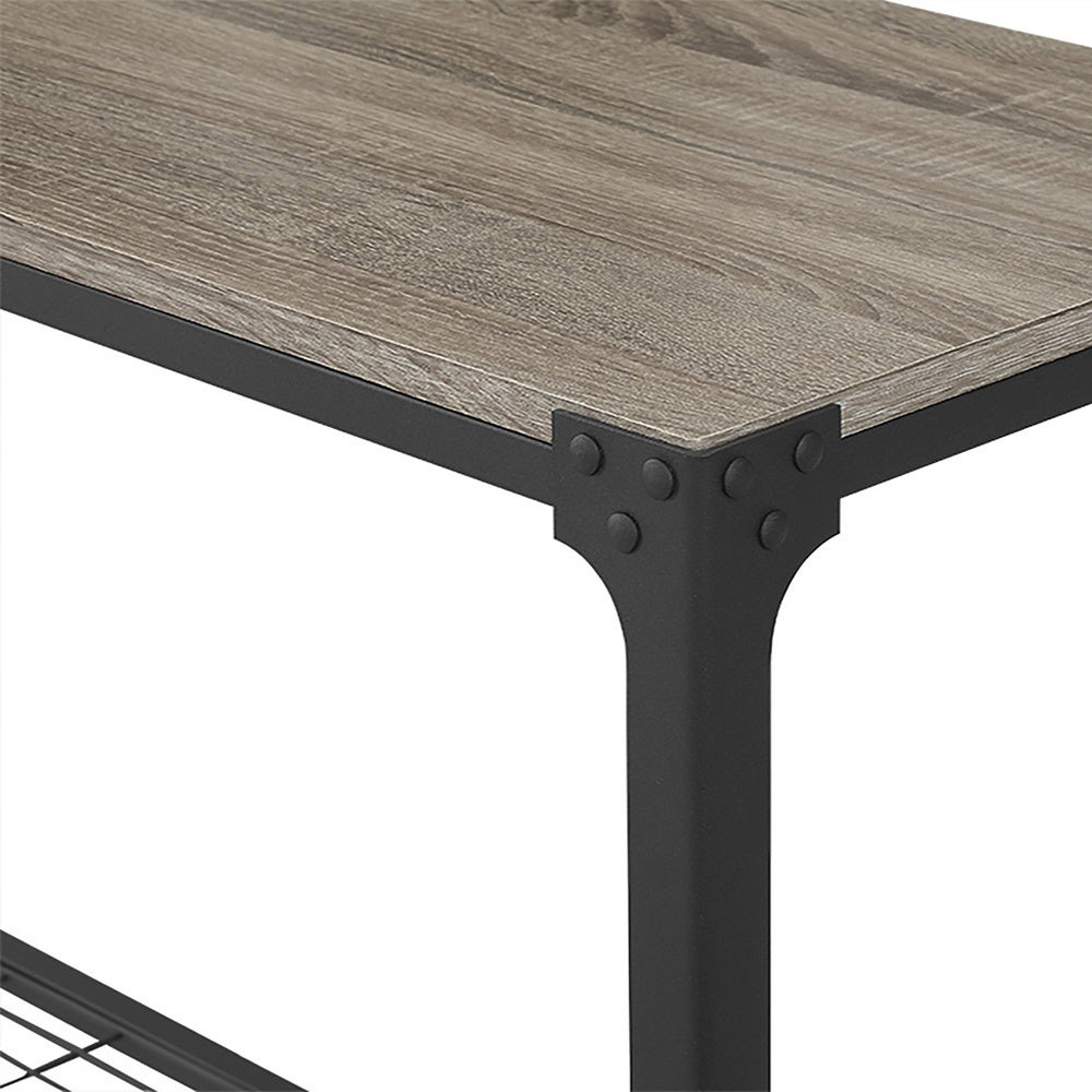 Carbon Loft Witten Angle Iron And Driftwood Entry Table – 44 X 16 X 30H In Newest Carbon Loft Witten Angle Iron And Driftwood Coffee Tables (View 4 of 20)