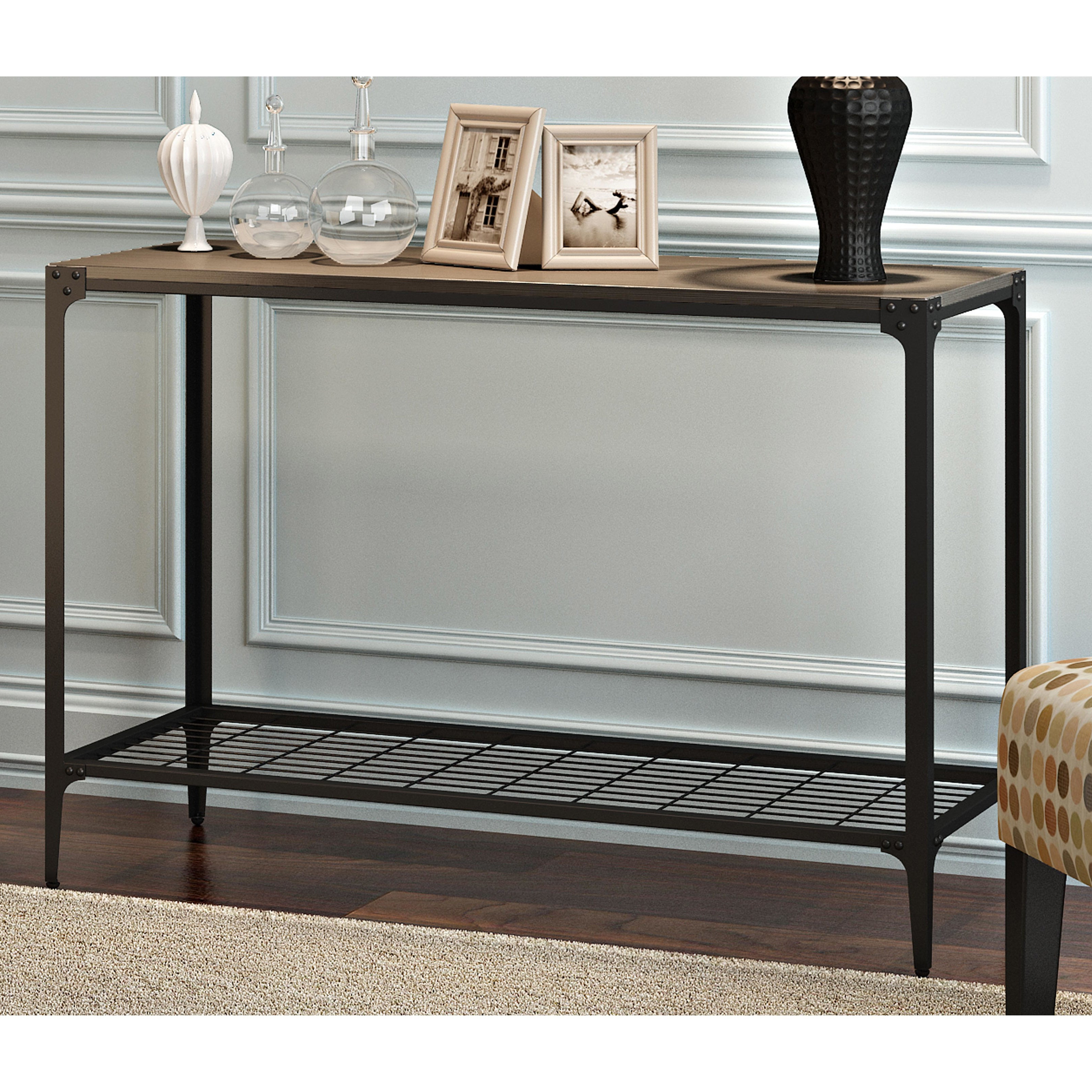 Carbon Loft Witten Angle Iron And Driftwood Entry Table – 44 X 16 X 30H Within Recent Carbon Loft Witten Angle Iron And Driftwood Coffee Tables (View 5 of 20)