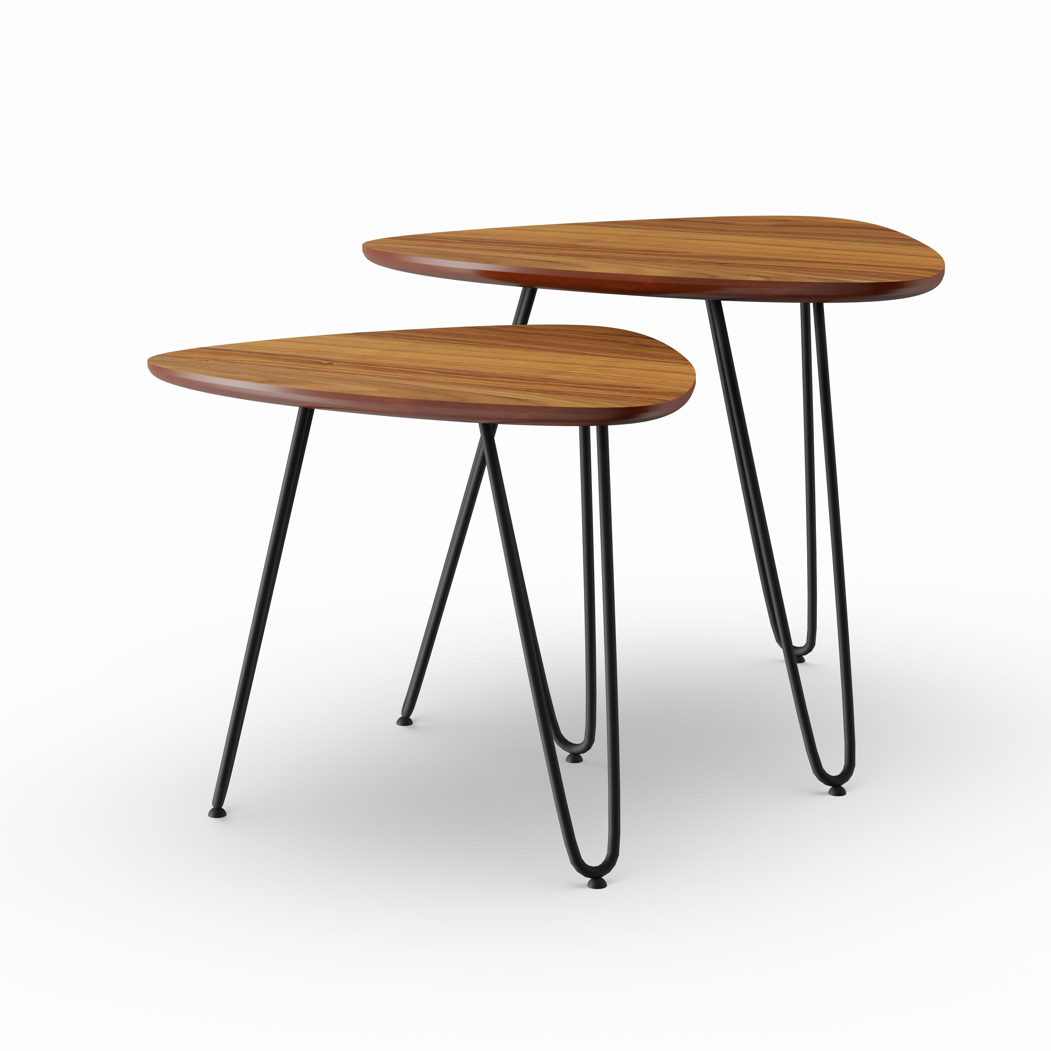 Carson Carrington Arendal Guitar Pick Nesting Coffee Table Set – 18 X 18 X  15H In Newest Carson Carrington Arendal Guitar Pick Nesting Coffee Tables (View 5 of 20)