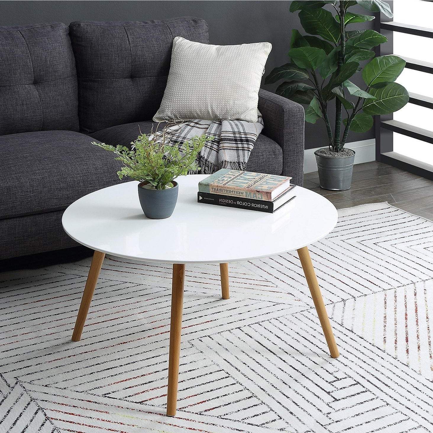 Carson Carrington Tallinn Round Coffee Table, White In 2019 Within Most Current Carson Carrington Arendal Guitar Pick Nesting Coffee Tables (View 10 of 20)